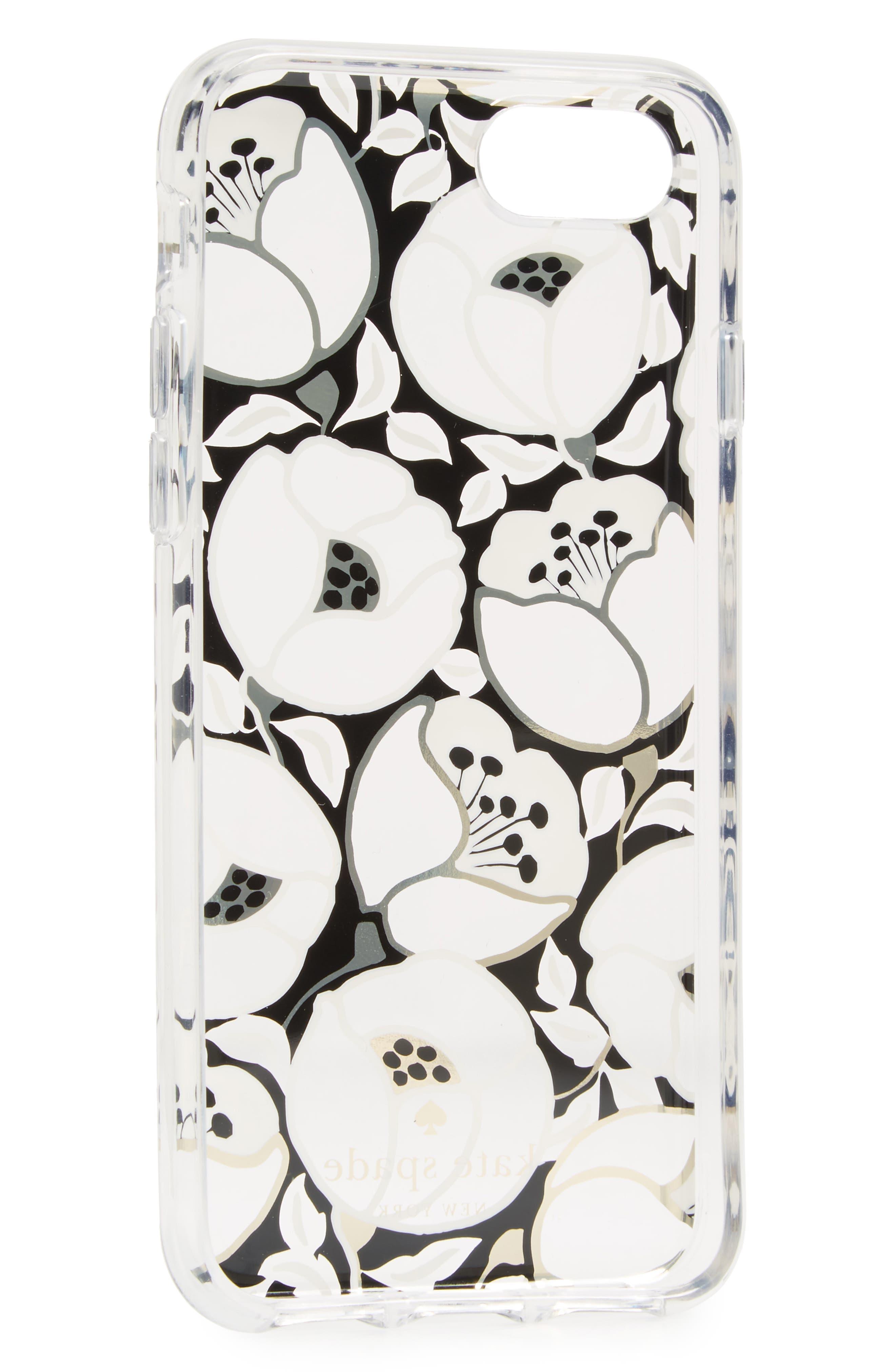 paris poppy iPhone 7/8 & 7/8 Plus case,                             Alternate thumbnail 2, color,                             Clear Multi