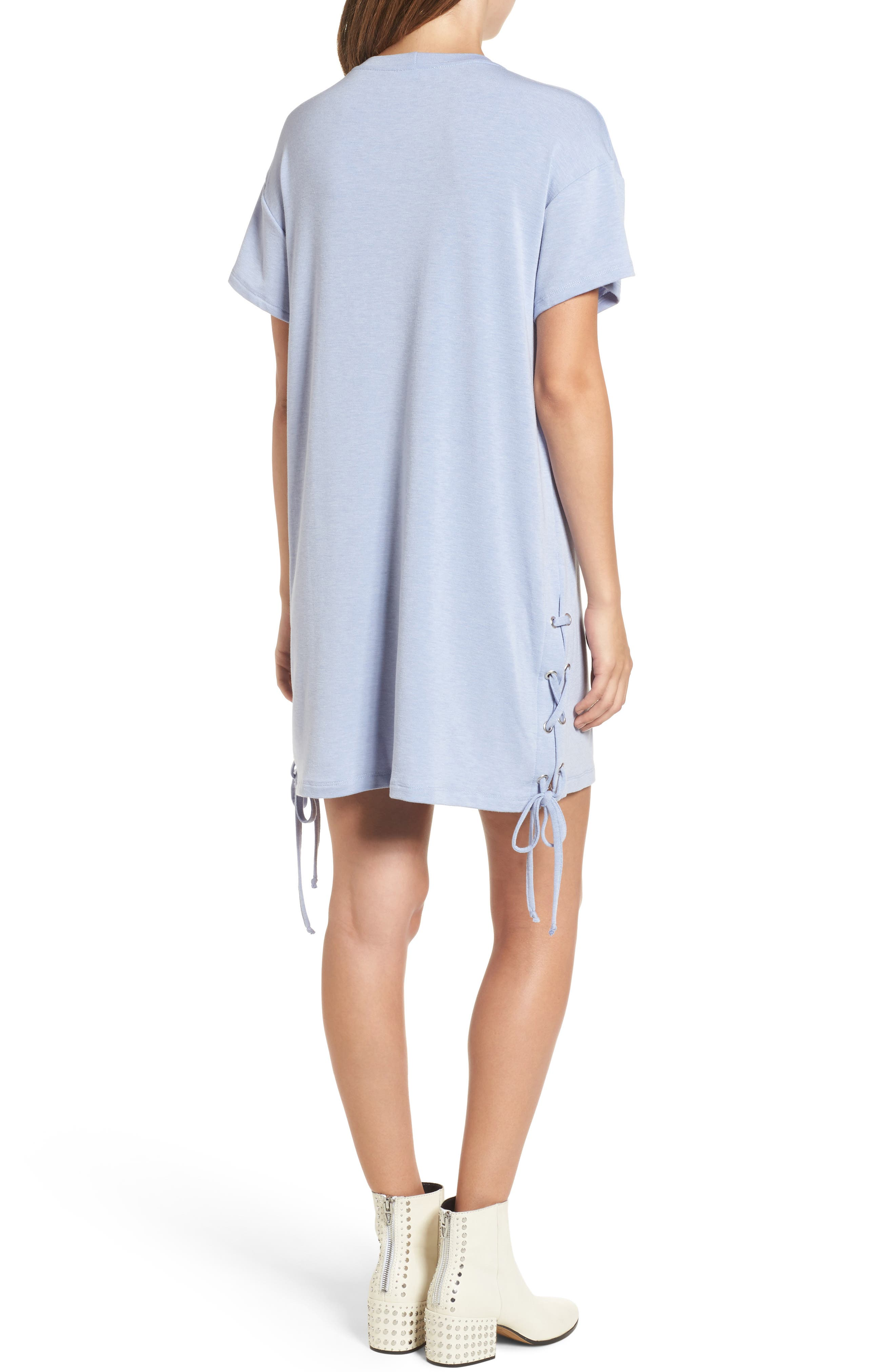 Alternate Image 2  - Lace-Up Side T-Shirt Dress