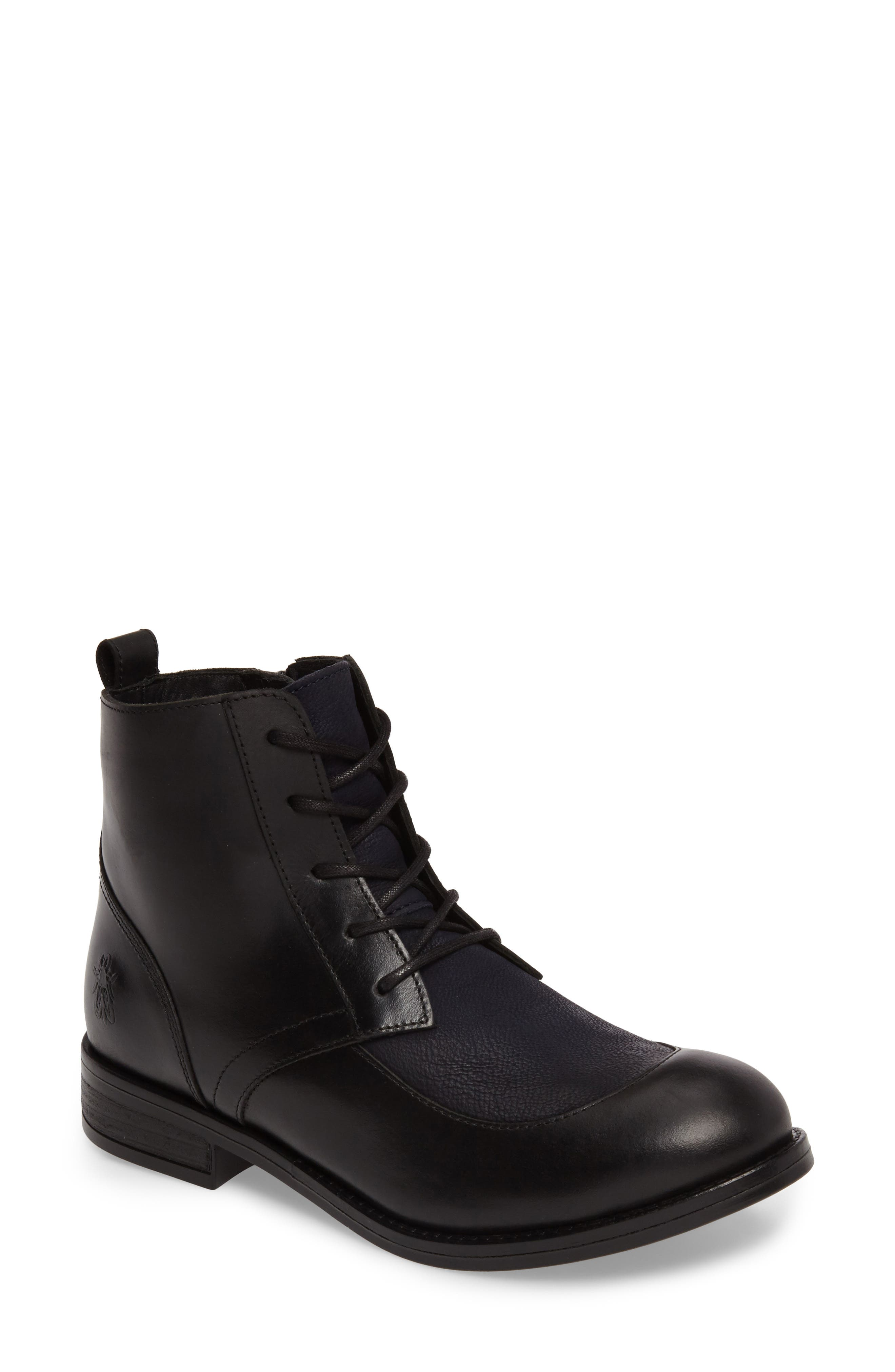 Arty Boot,                             Main thumbnail 1, color,                             Black/ Ocean Leather