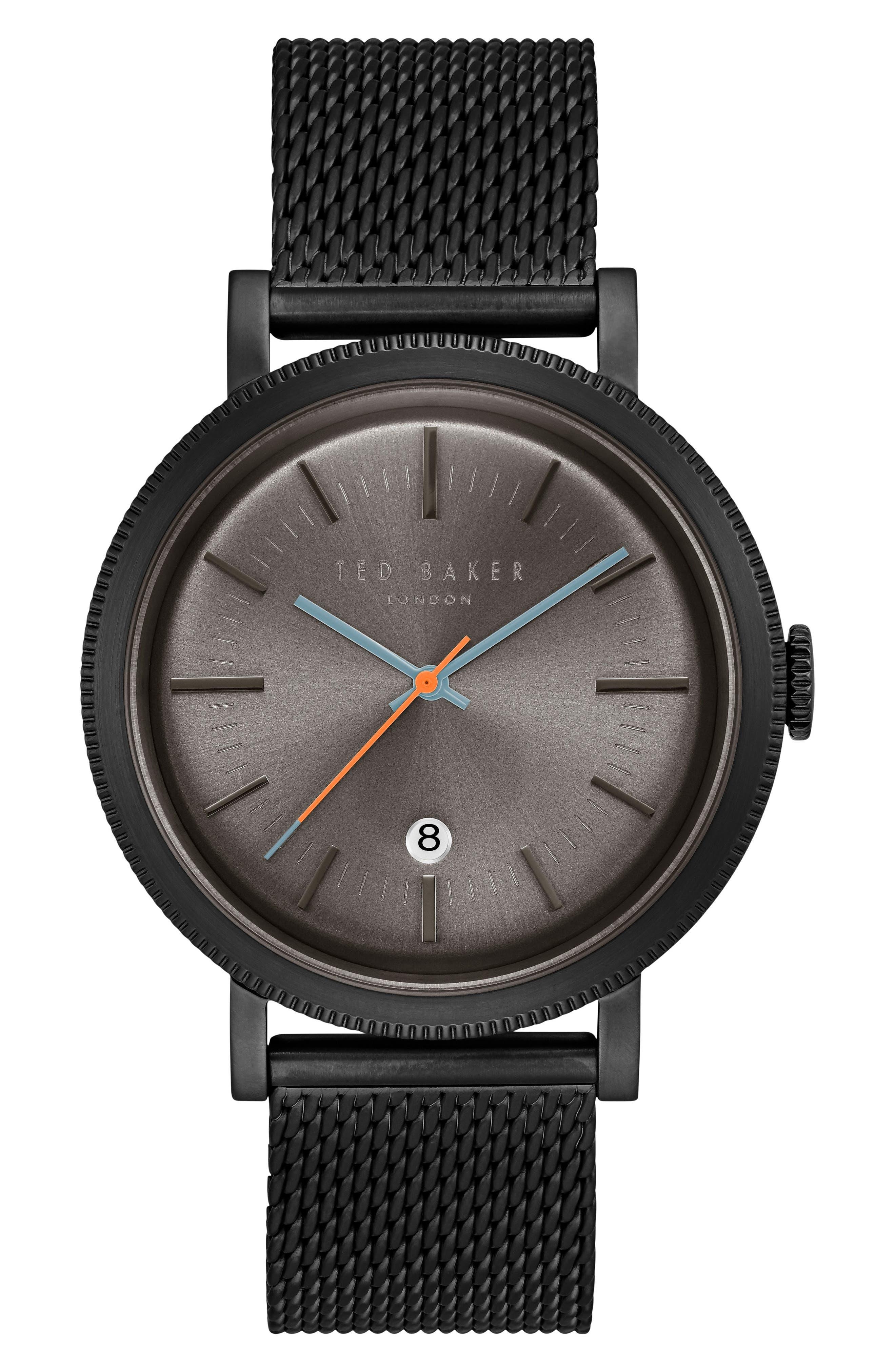 Main Image - Ted Baker London Connor Mesh Bracelet Watch, 42mm