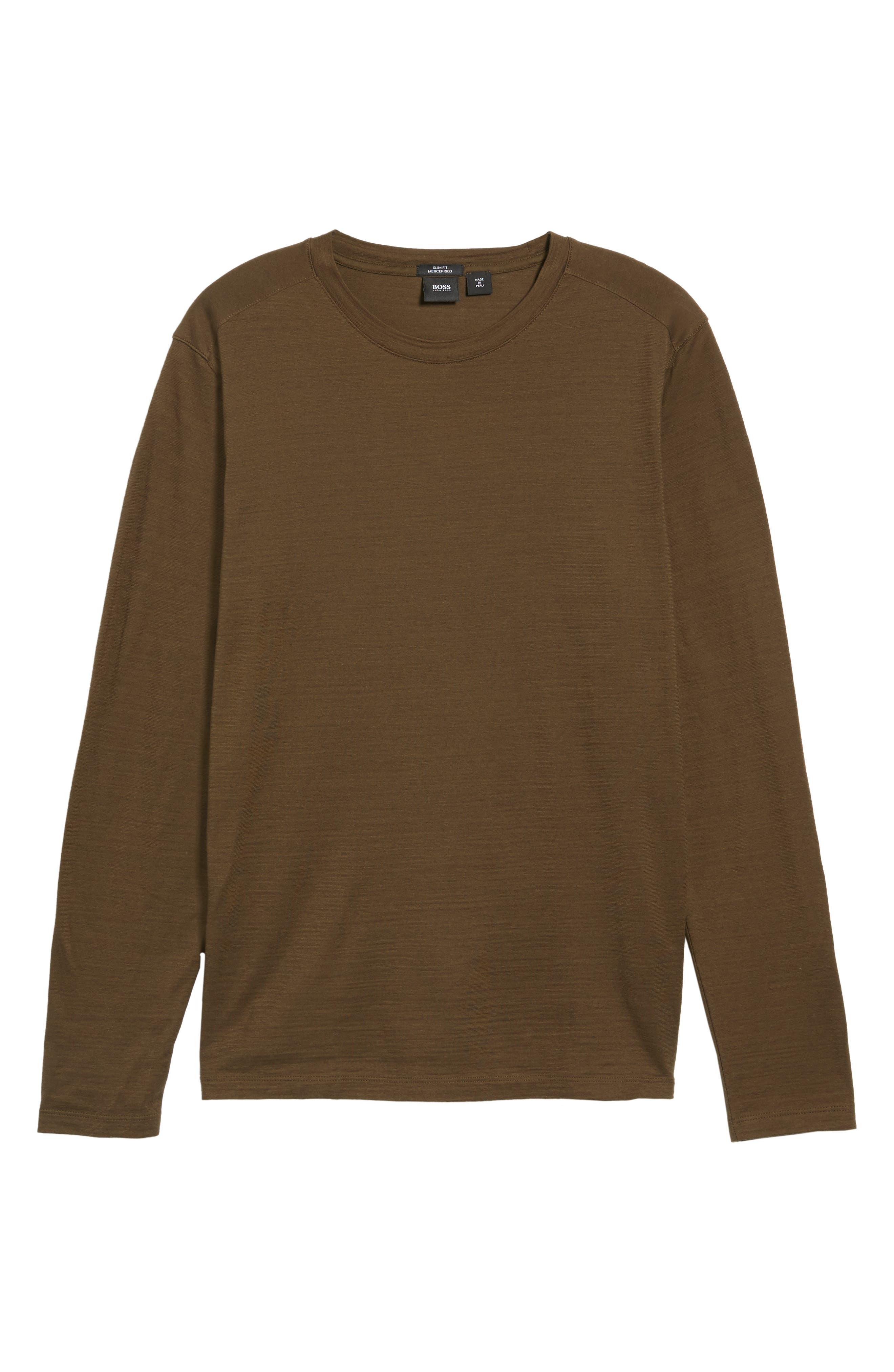 Alternate Image 5  - BOSS Tenison Long Sleeve T-Shirt