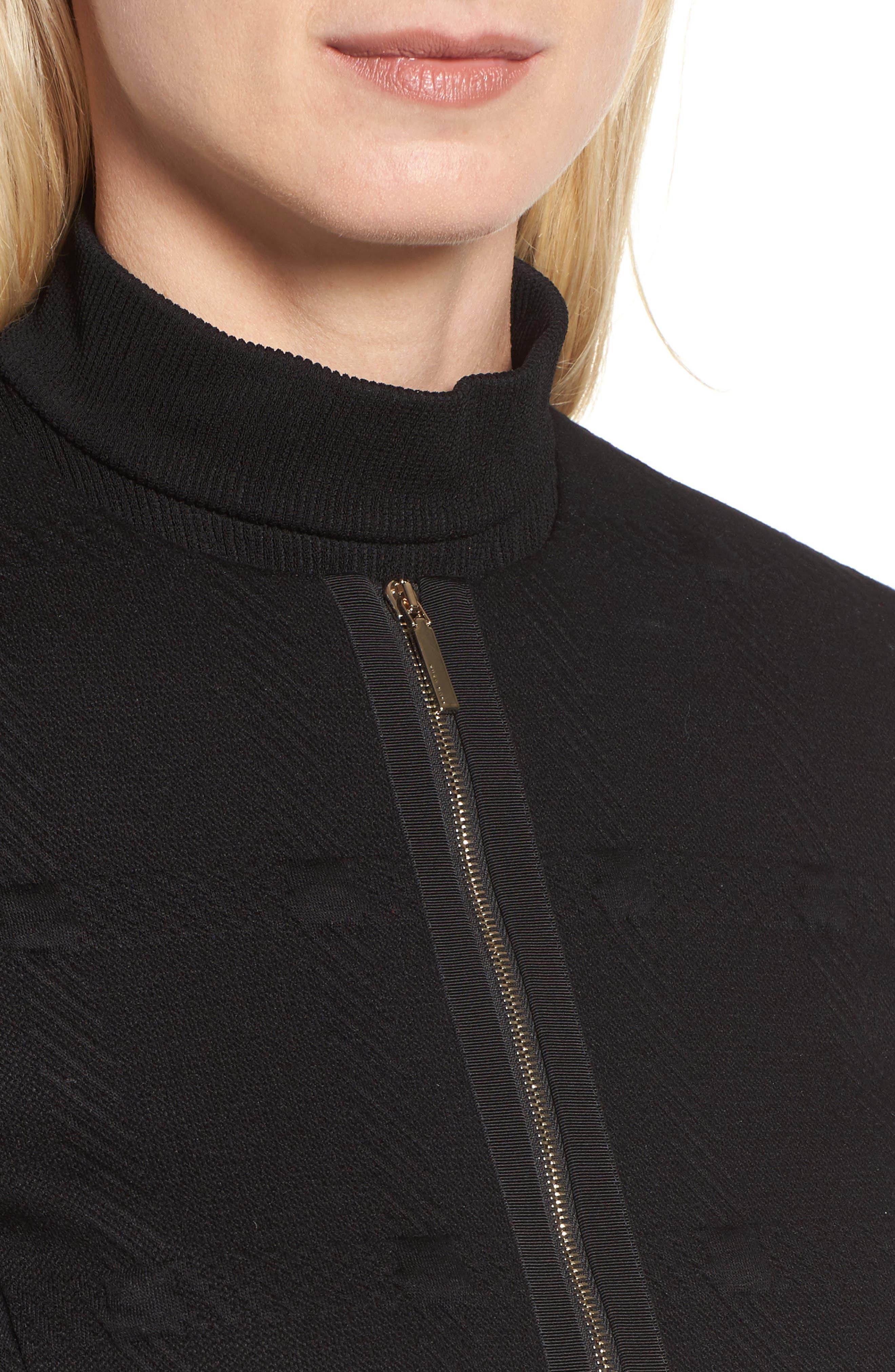 Kanelli Jacquard Jacket,                             Alternate thumbnail 5, color,                             Black