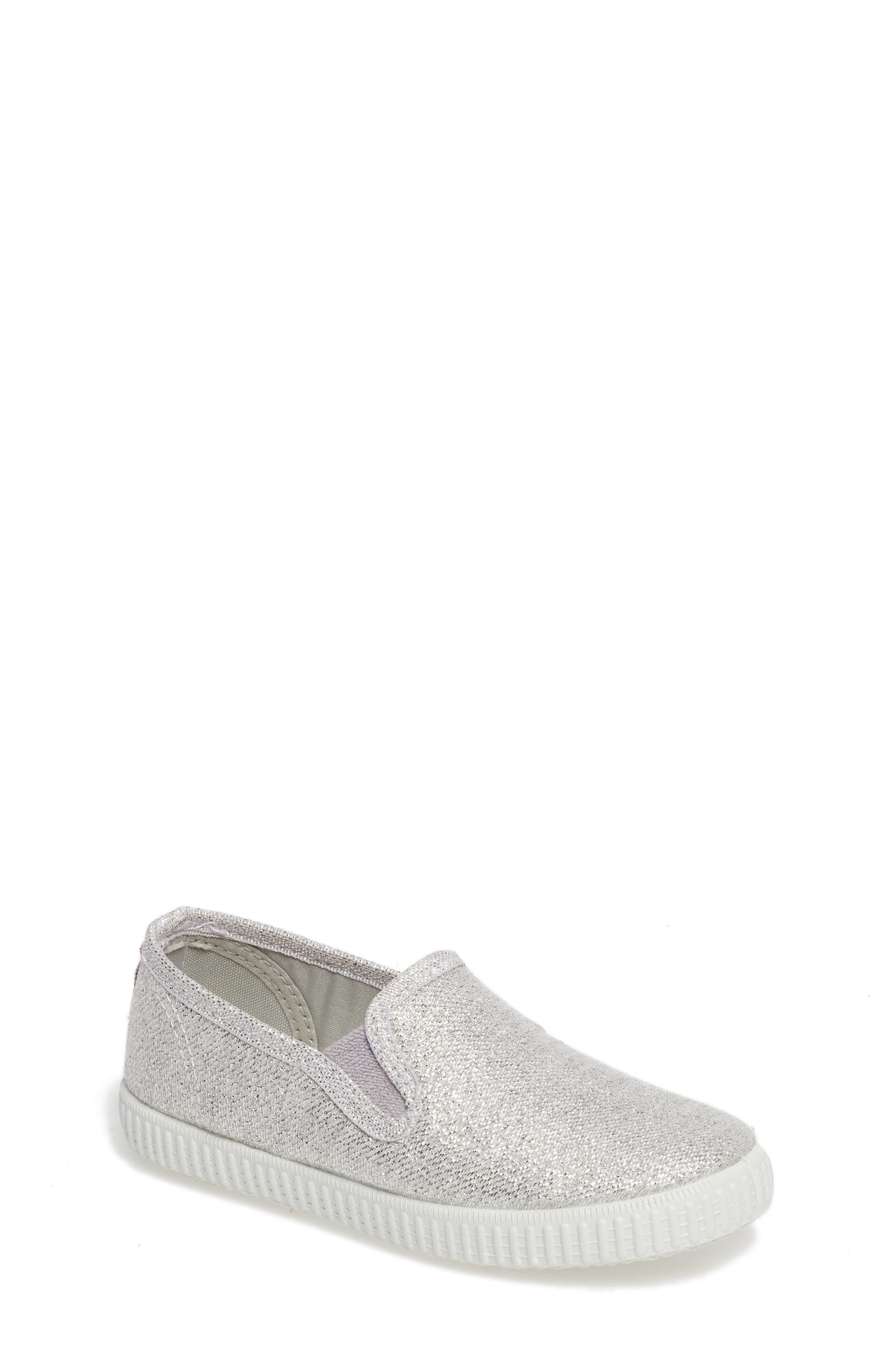 Cienta Glitter Slip-On Sneaker (Baby, Walker, Toddler and Little Kid)