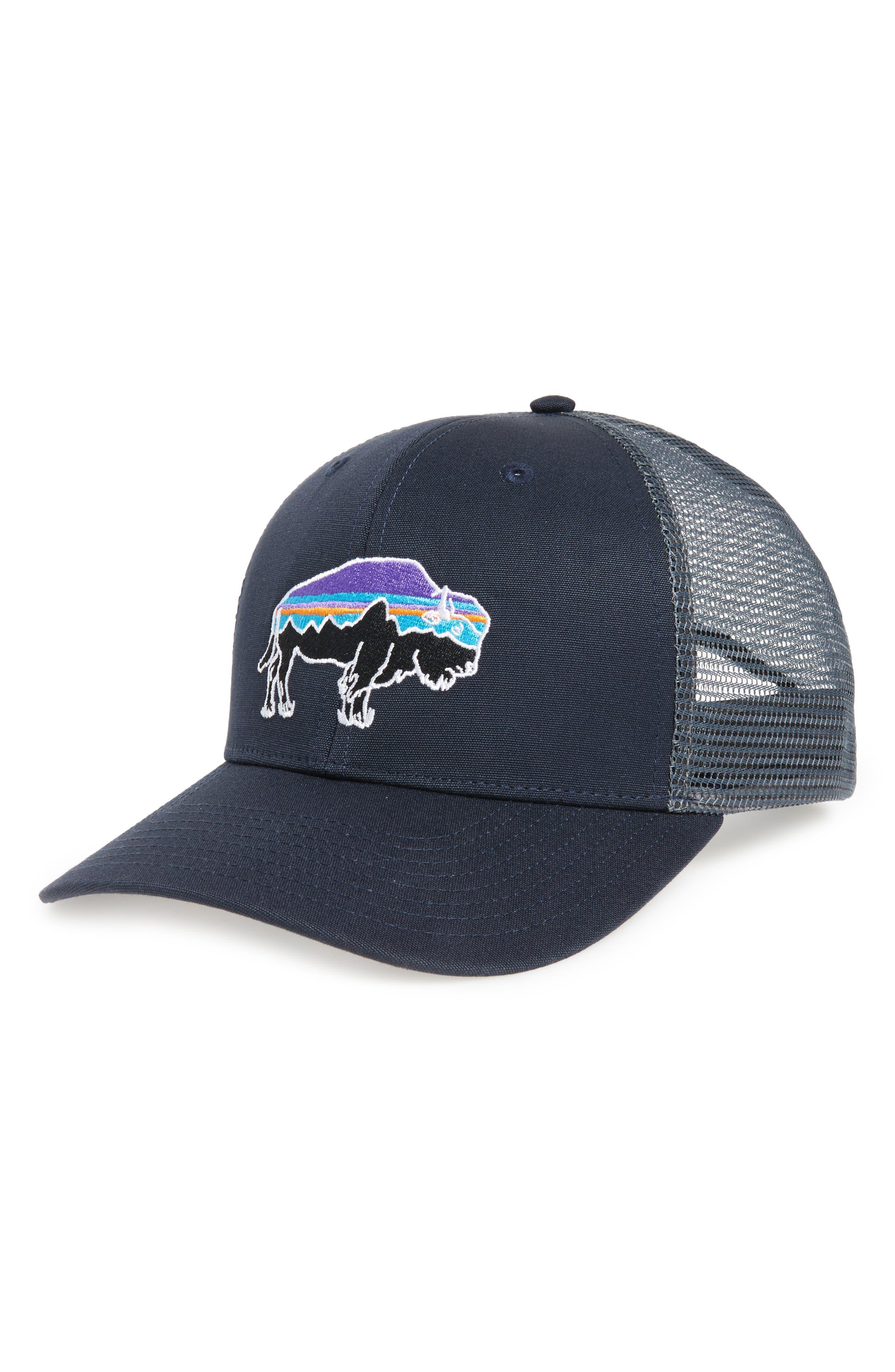'Fitz Roy Bison' Trucker Hat,                             Main thumbnail 1, color,                             Navy Blue
