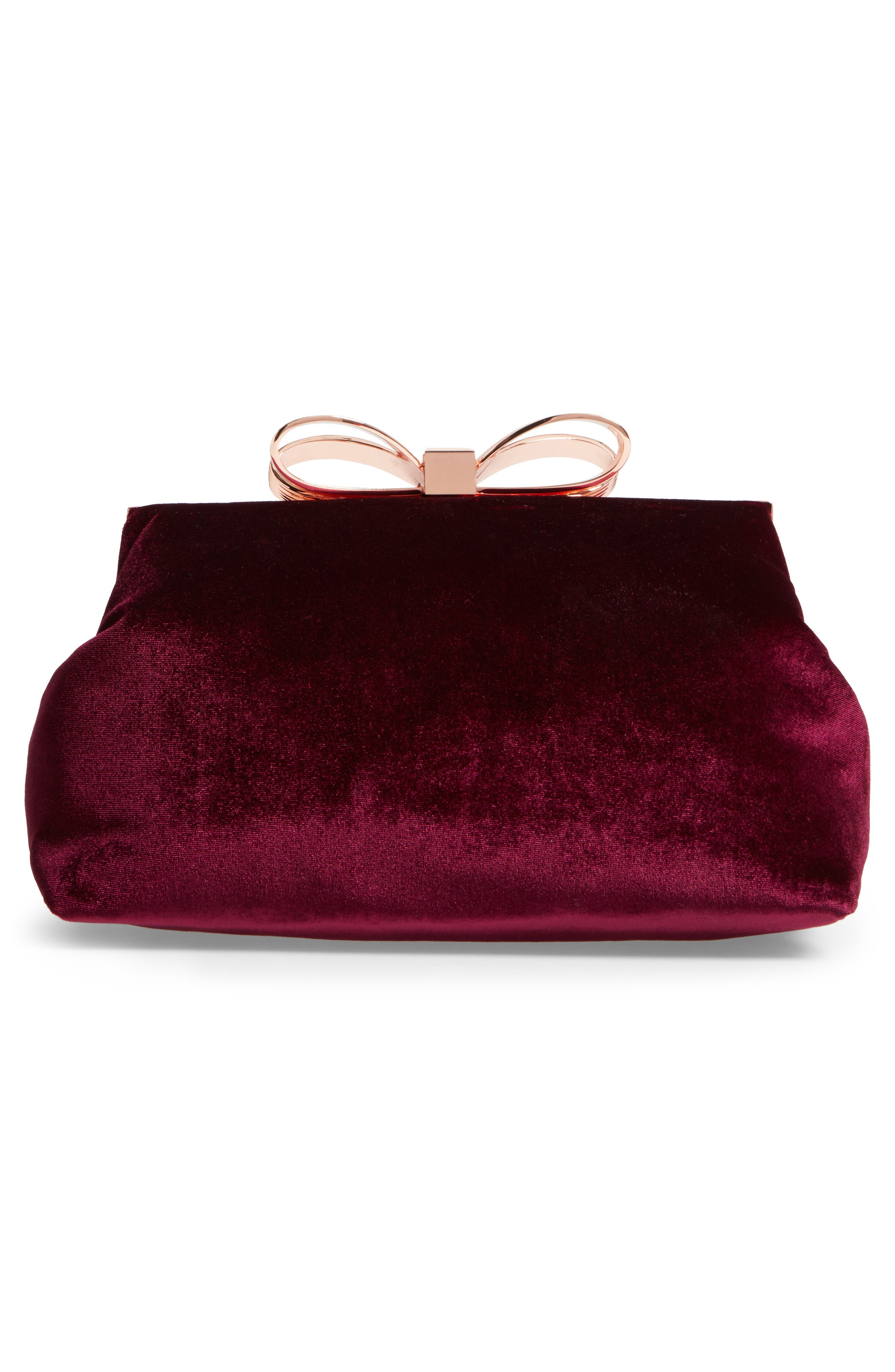 Alternate Image 2  - Ted Baker London Cena Bow Velvet Clutch
