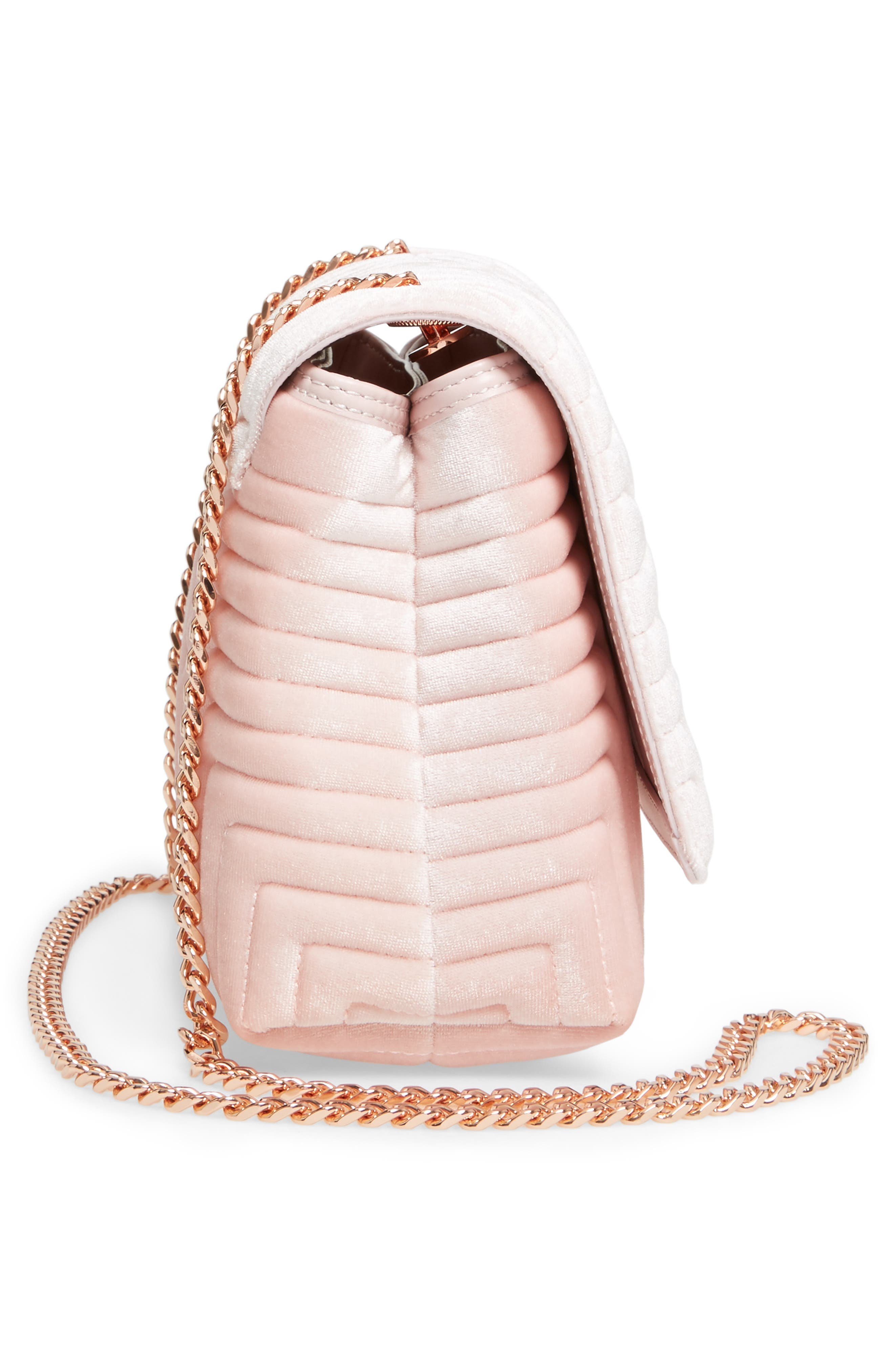 Alternate Image 5  - Ted Baker London Quilted Velvet Crossbody Bag