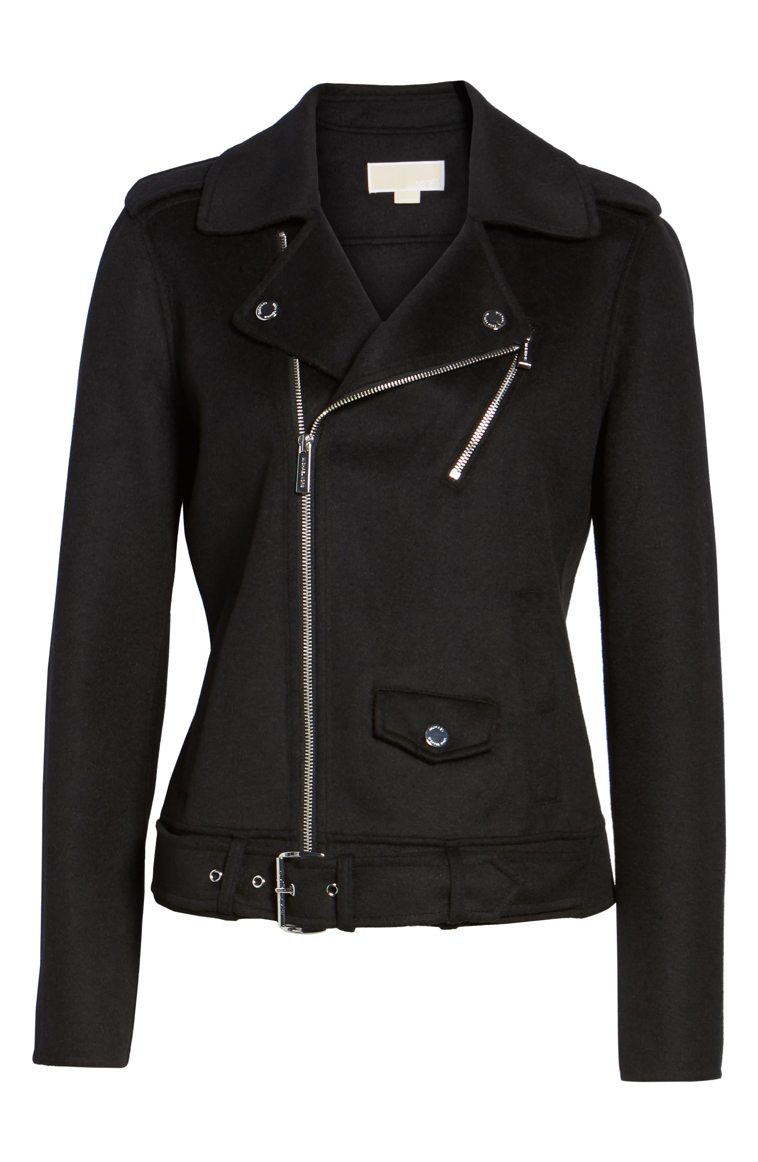 Alternate Image 6  - MICHAEL Michael Kors Wool Blend Moto Jacket (Regular & Petite)