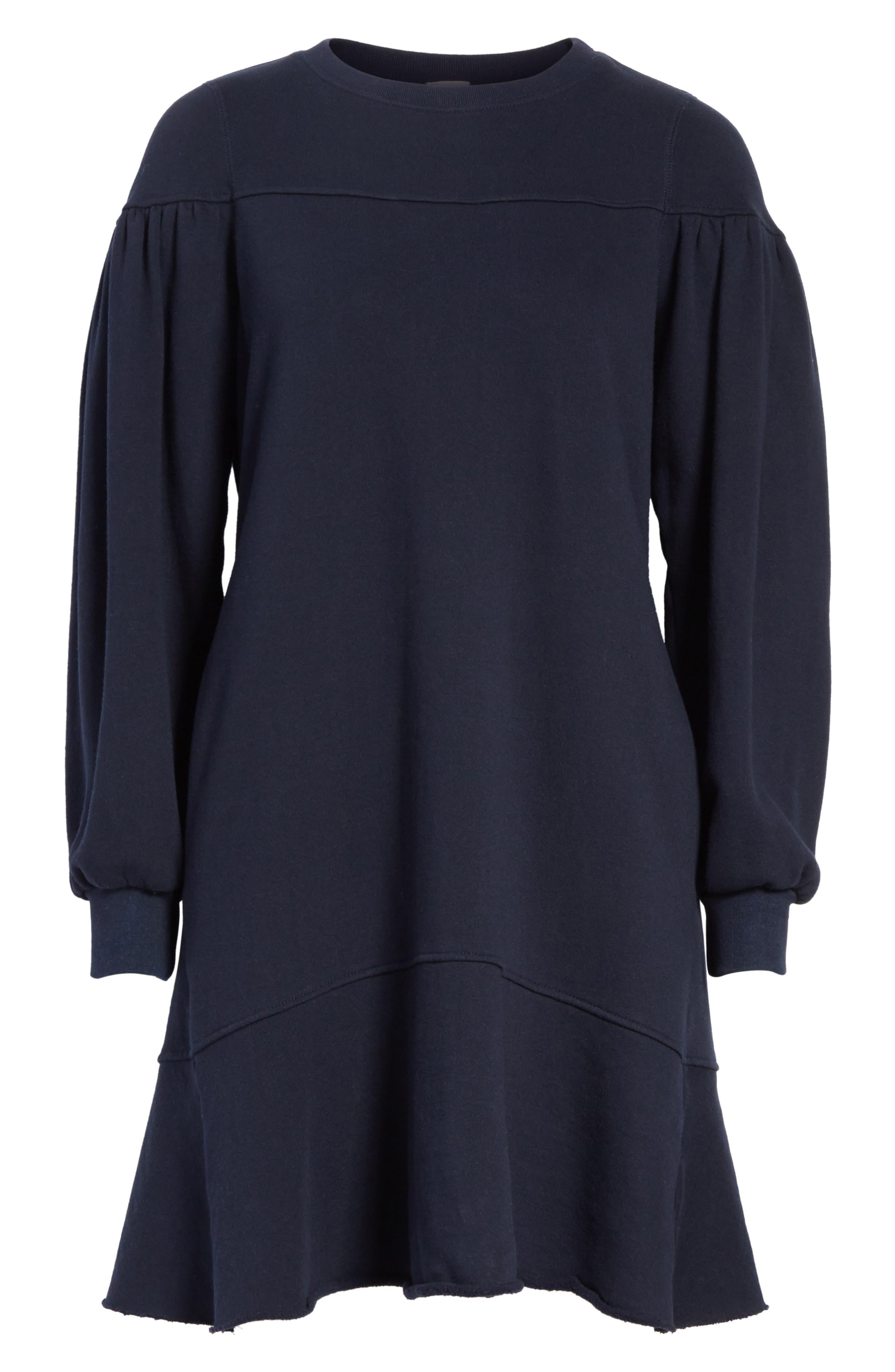Alternate Image 6  - La Vie Rebecca Taylor Long Sleeve Fleece Dress