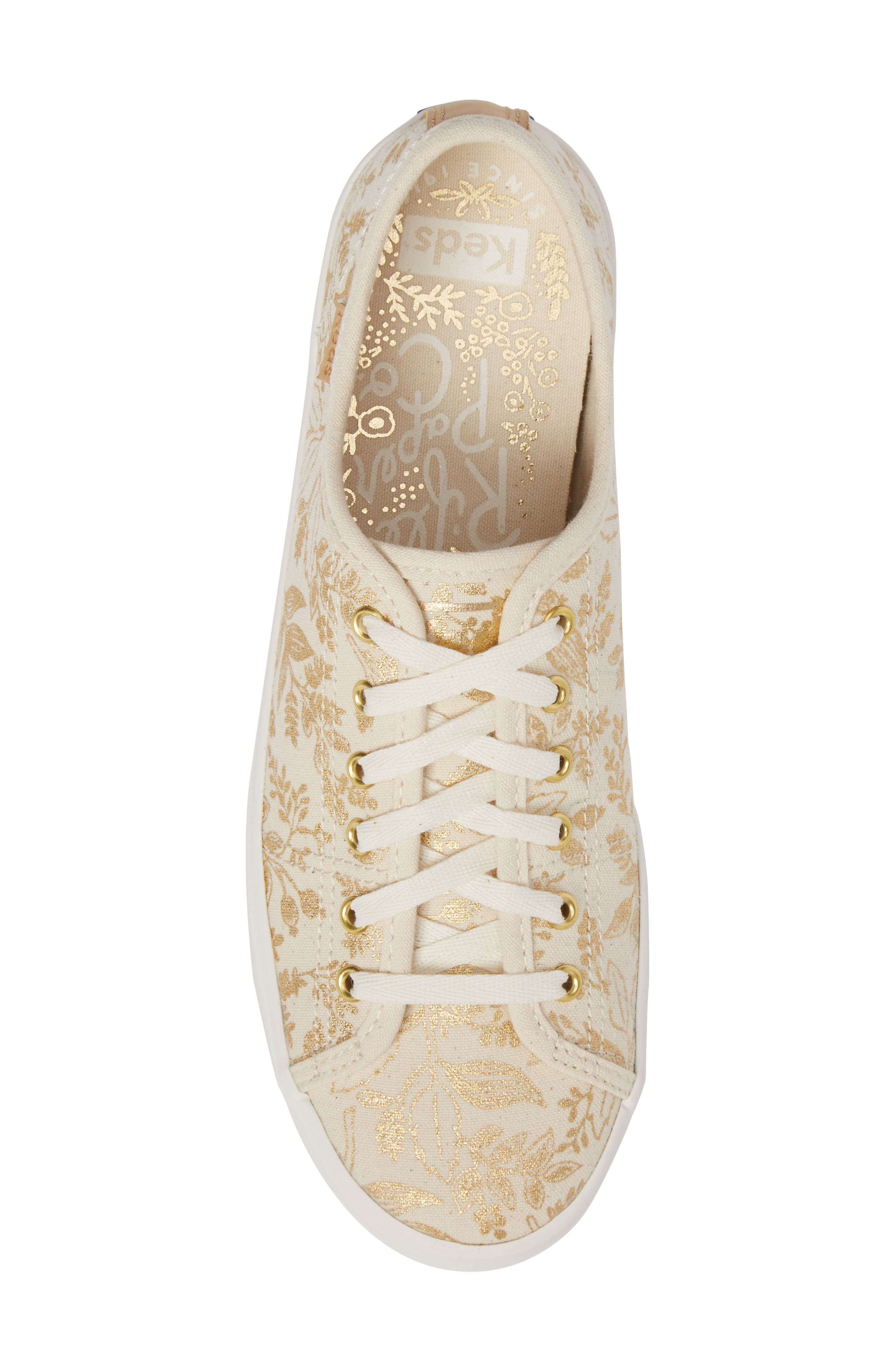 x Rifle Paper Co. Queen Anne Sneaker,                             Alternate thumbnail 5, color,                             Natural