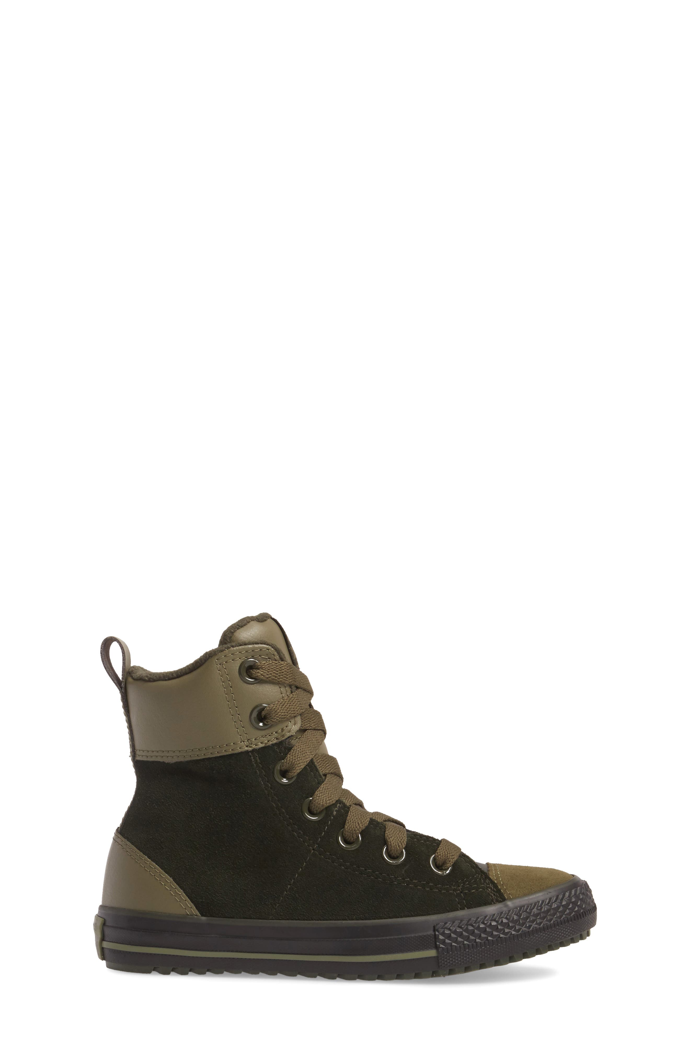 Chuck Taylor<sup>®</sup> All Star<sup>®</sup> Asphalt Sneaker Boot,                             Alternate thumbnail 3, color,                             Sequoia