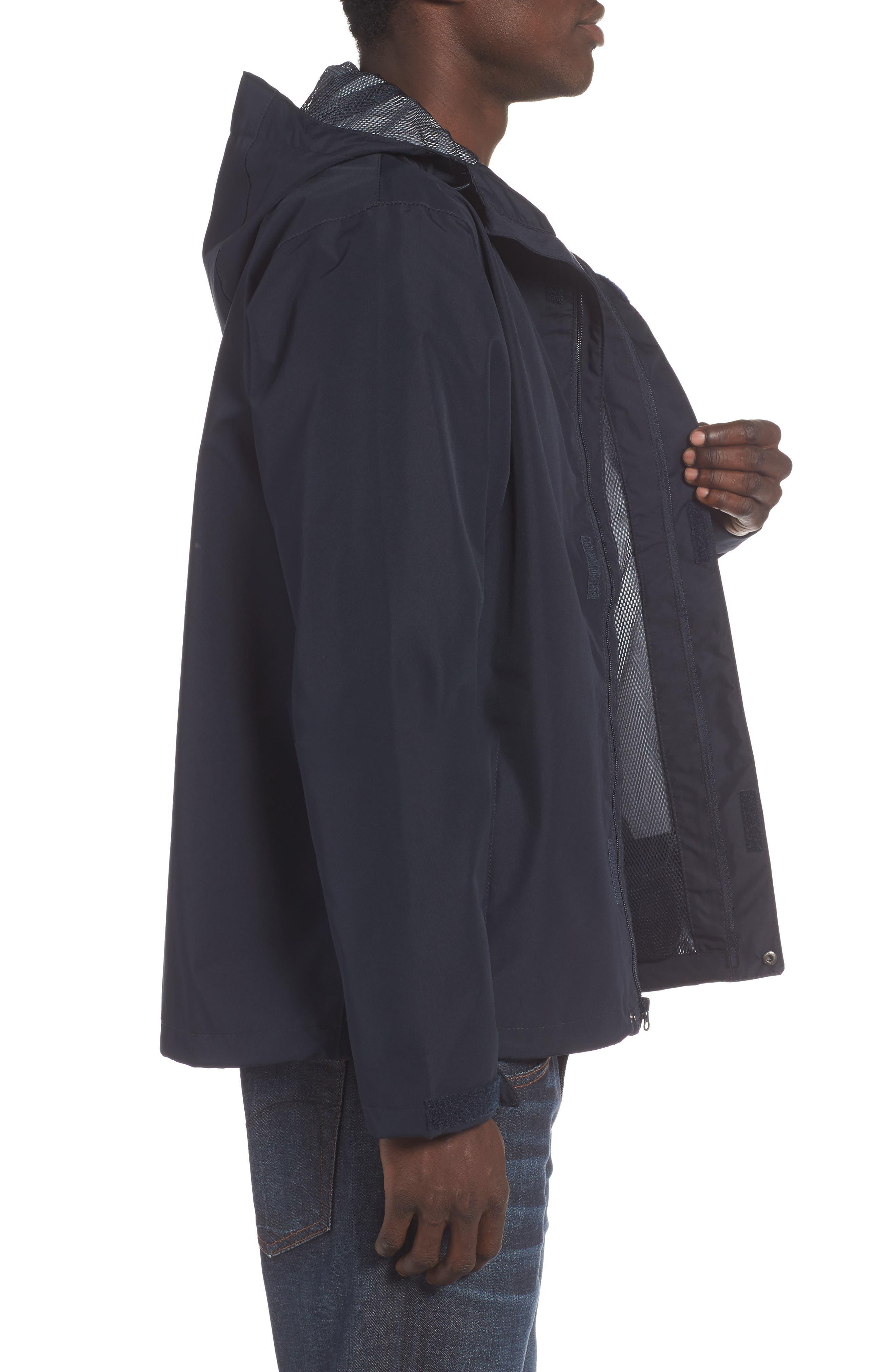 'Seven J' Waterproof & Windproof Jacket,                             Alternate thumbnail 3, color,                             Navy Blue