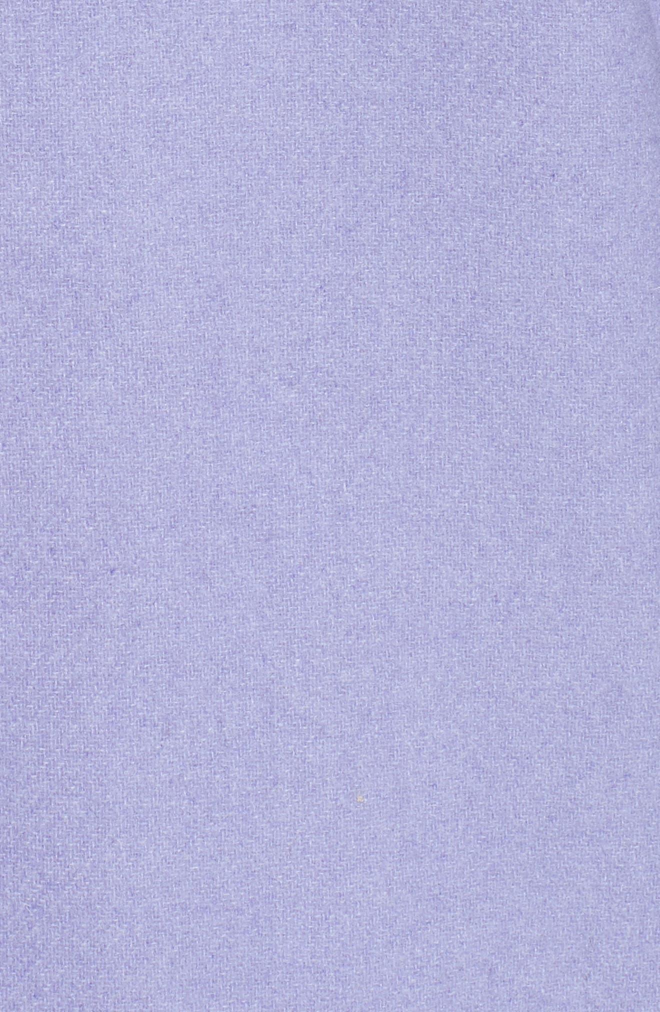 Alternate Image 5  - Ellen Tracy Wool Blend Stadium Coat (Regular & Petite)