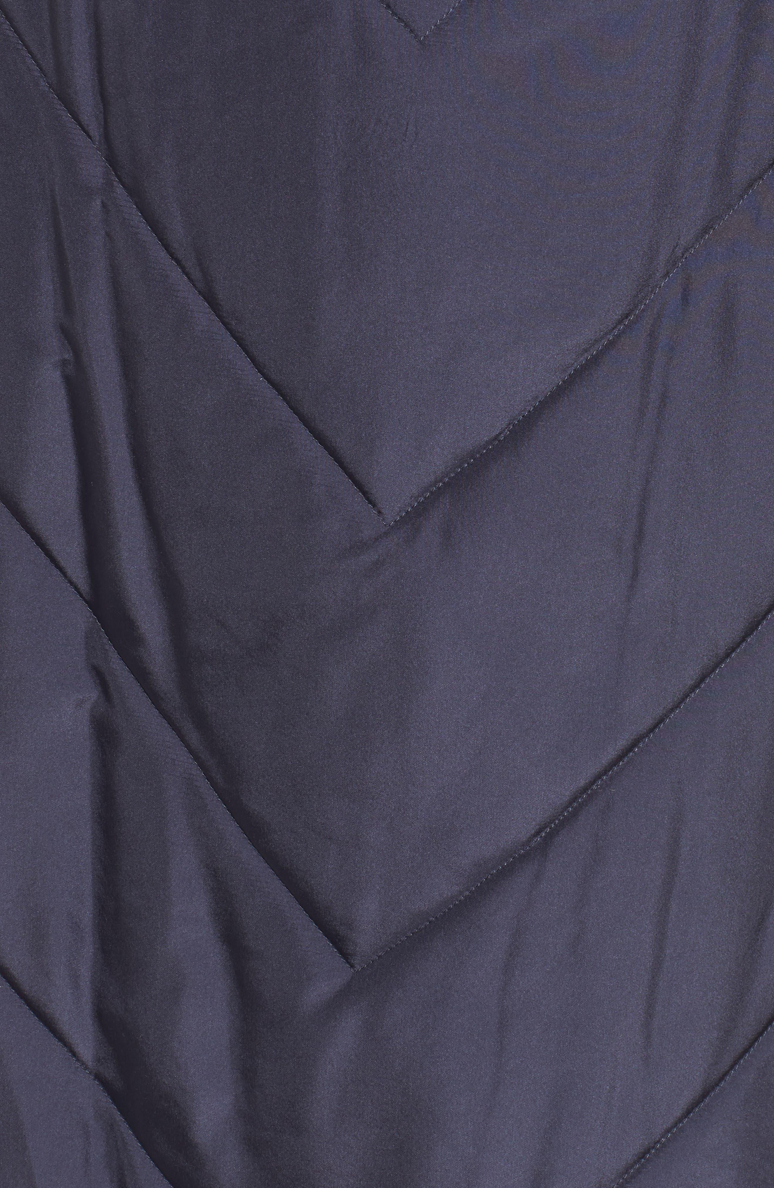 Alternate Image 5  - George Simonton Couture Packable Silk Coat with Genuine Fox Fur & Genuine Rabbit Fur