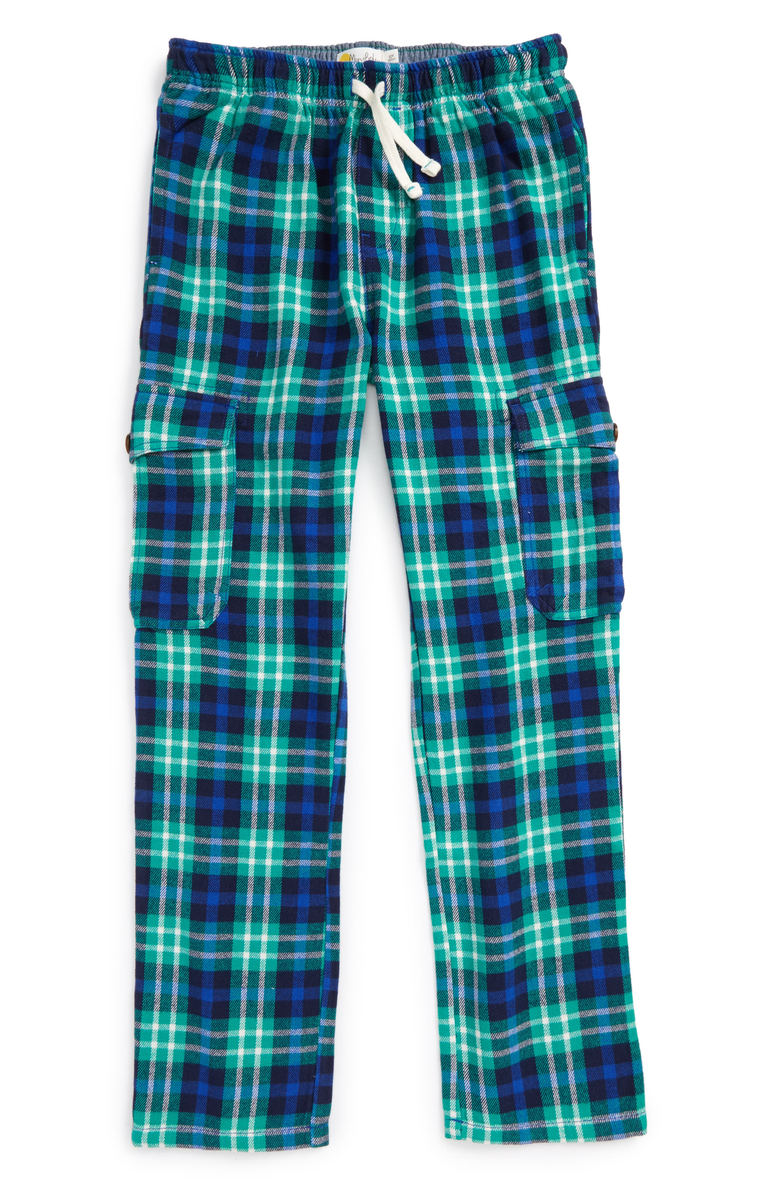 Alternate Image 1 Selected - Mini Boden Brushed Tartan Cargo Pants (Toddler Boys, Little Boys & Big Boys)