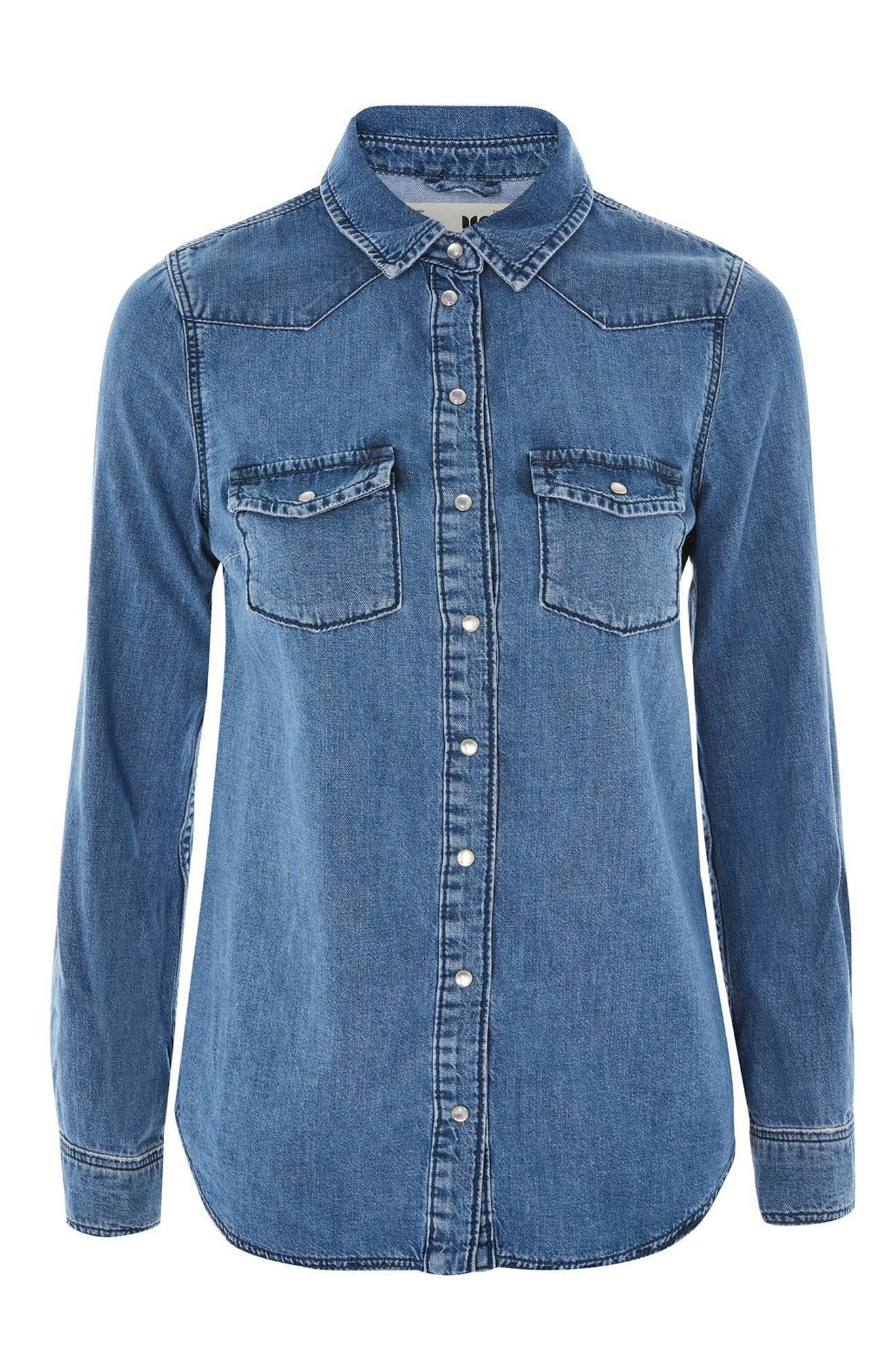 Alternate Image 4  - Topshop Fitted Western Shirt
