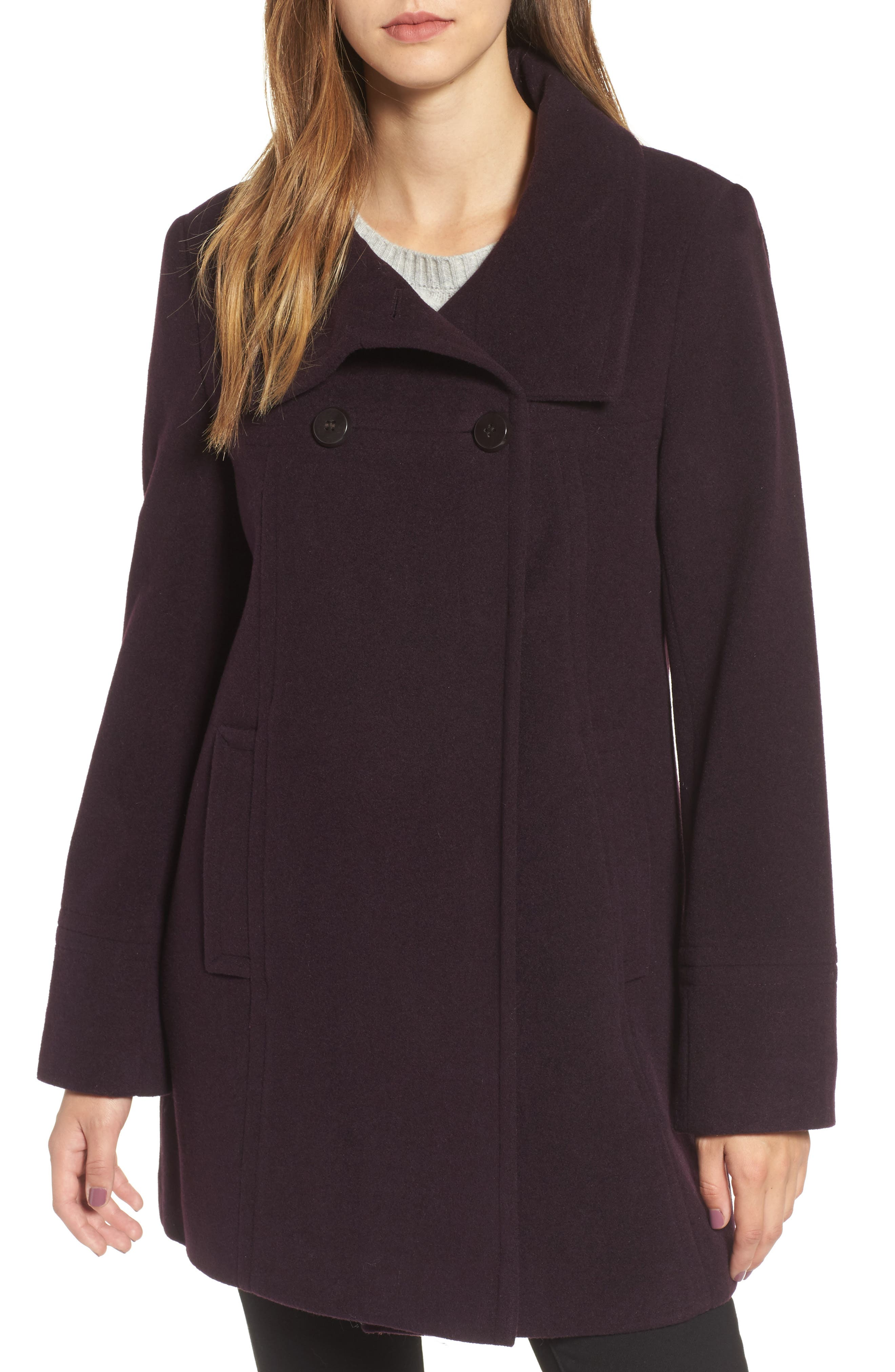 Larry Levine Double Breasted Coat
