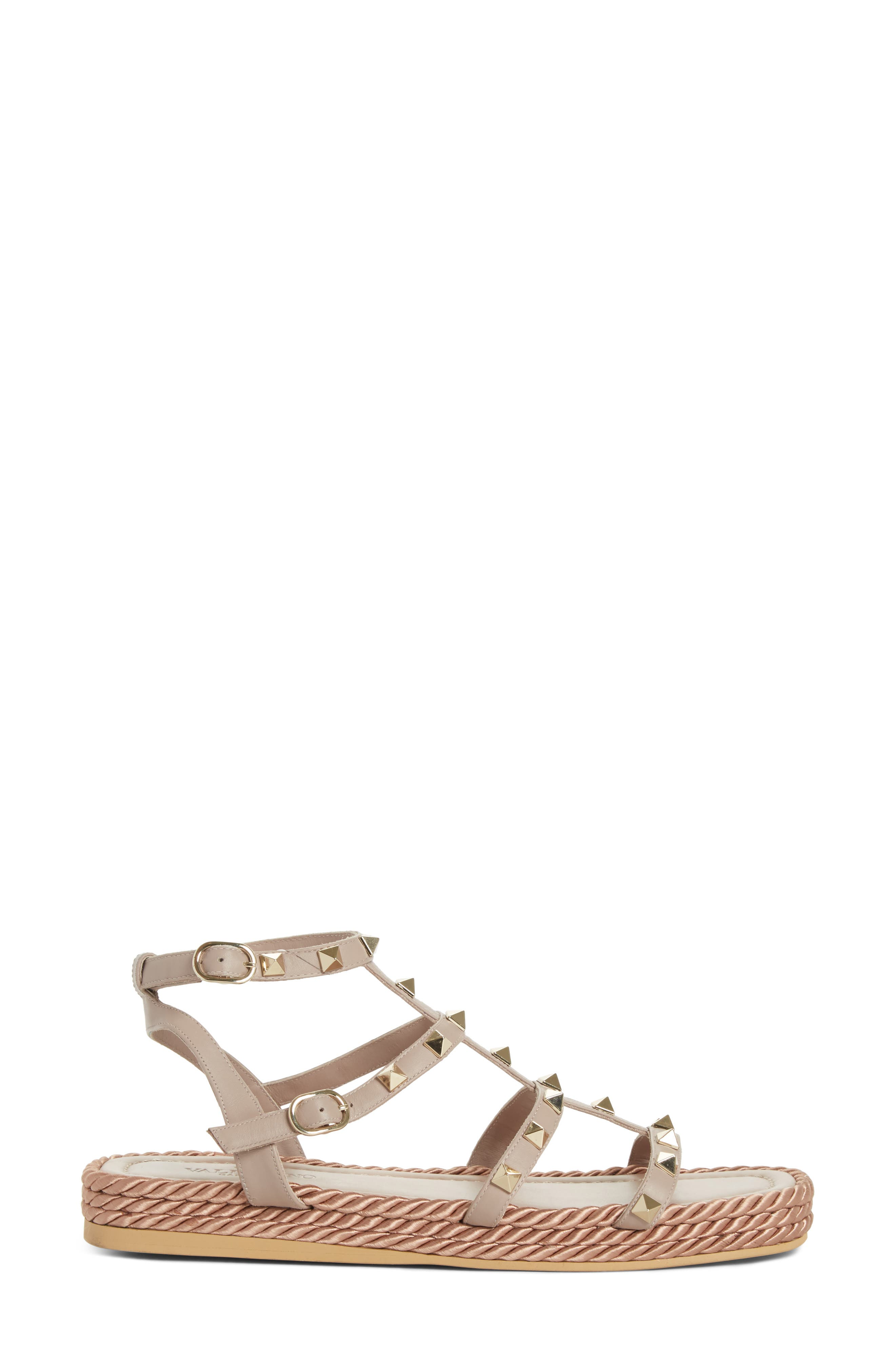 Torchon Strappy Sandal,                             Alternate thumbnail 3, color,                             Beige