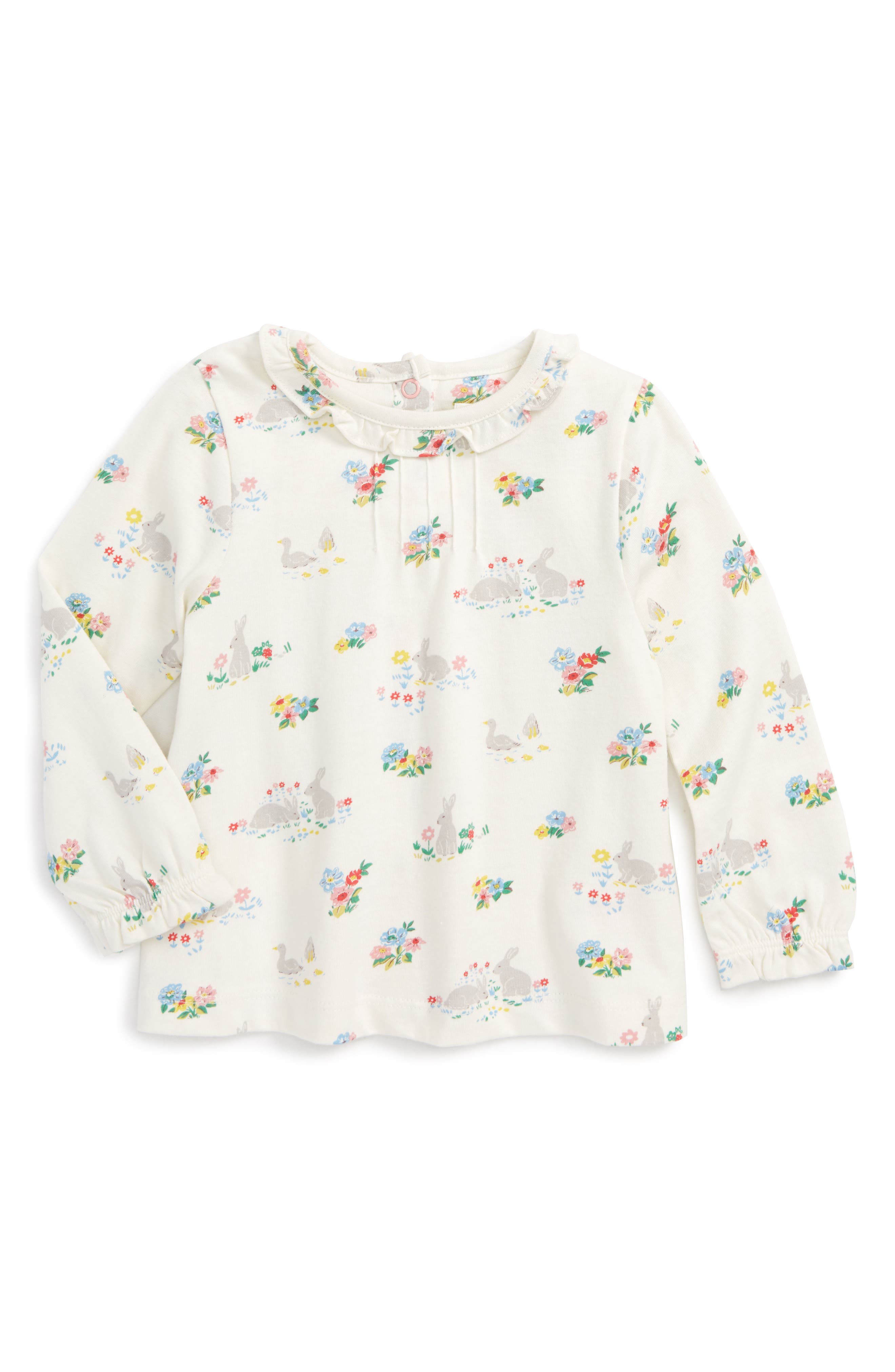 Mini Boden Pretty Print Tee (Baby Girls & Toddler Girls)