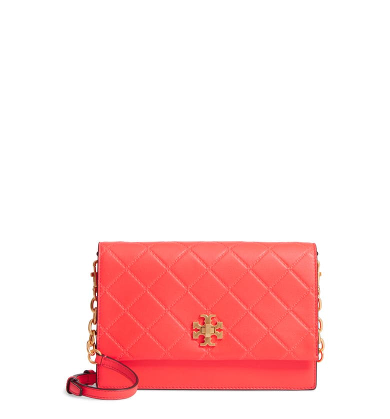 Main Image - Tory Burch Georgia Quilted Leather Shoulder Bag