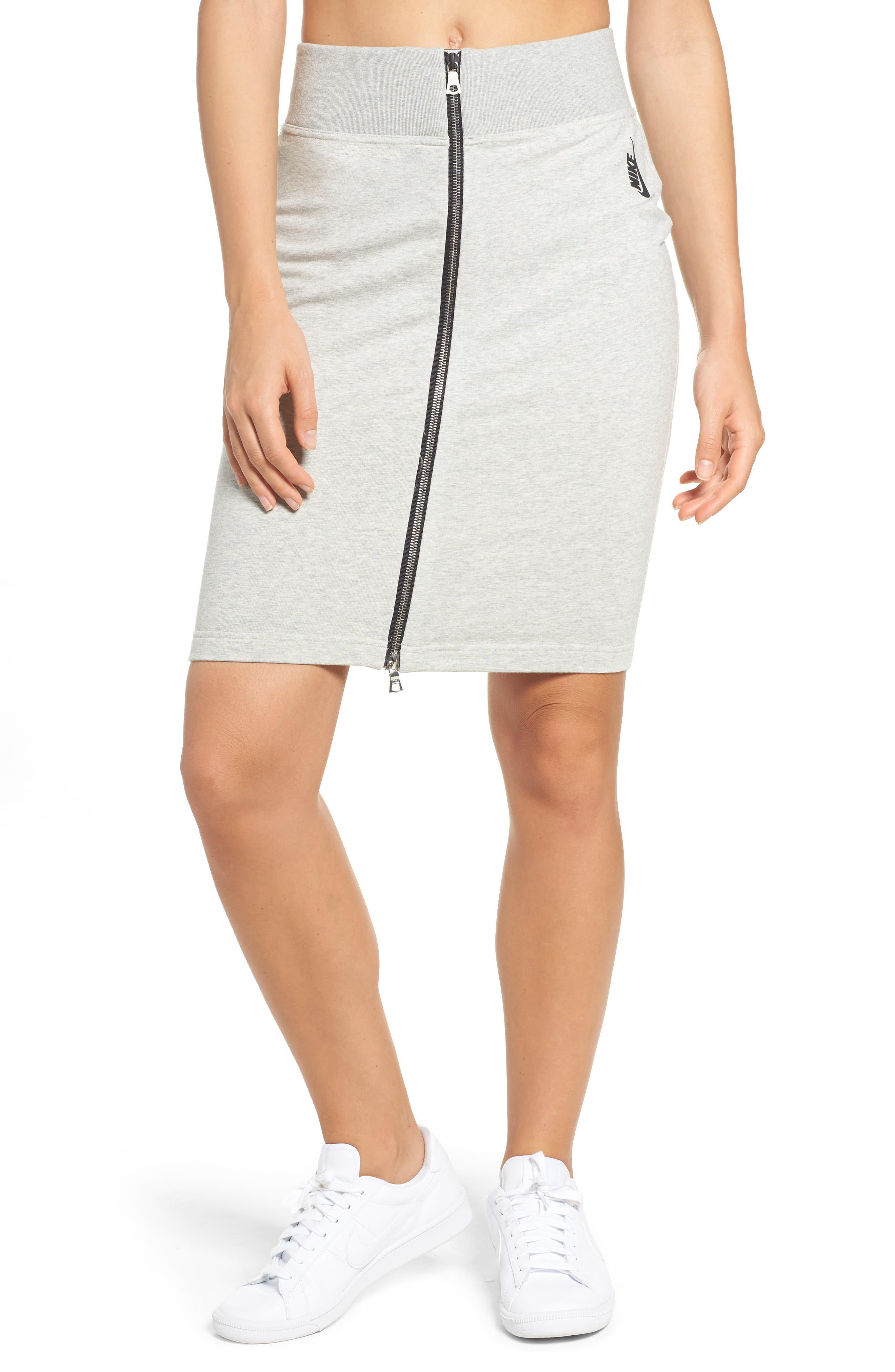 Essentials Sport Skirt,                             Main thumbnail 1, color,                             Grey Heather/ Black