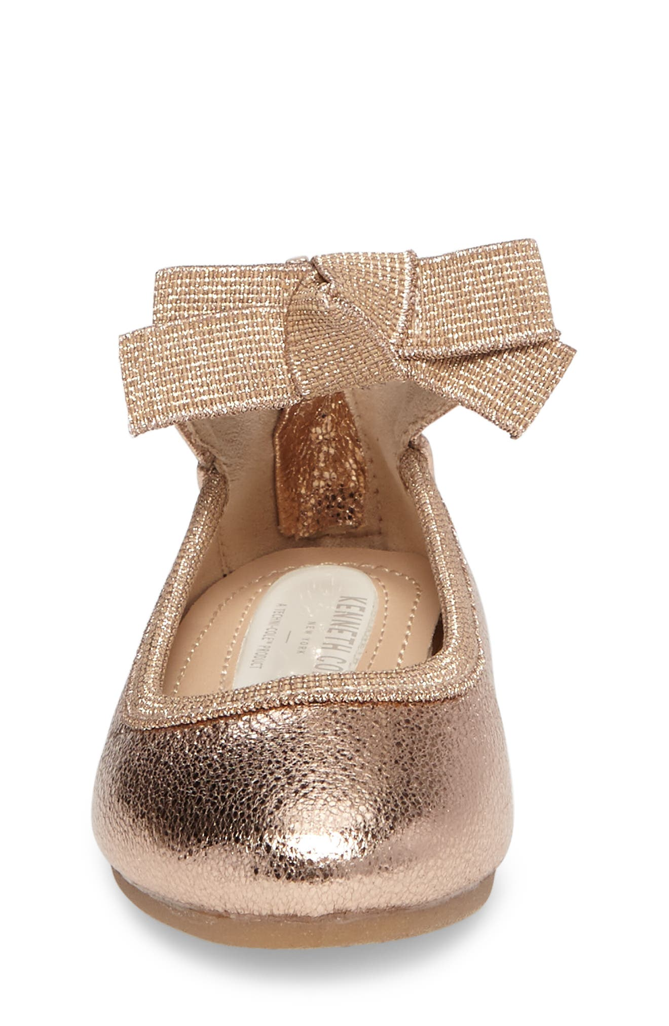 Alternate Image 4  - Kenneth Cole New York Rose Bow Ballet Flat (Walker, Toddler, Little Kid & Big Kid)