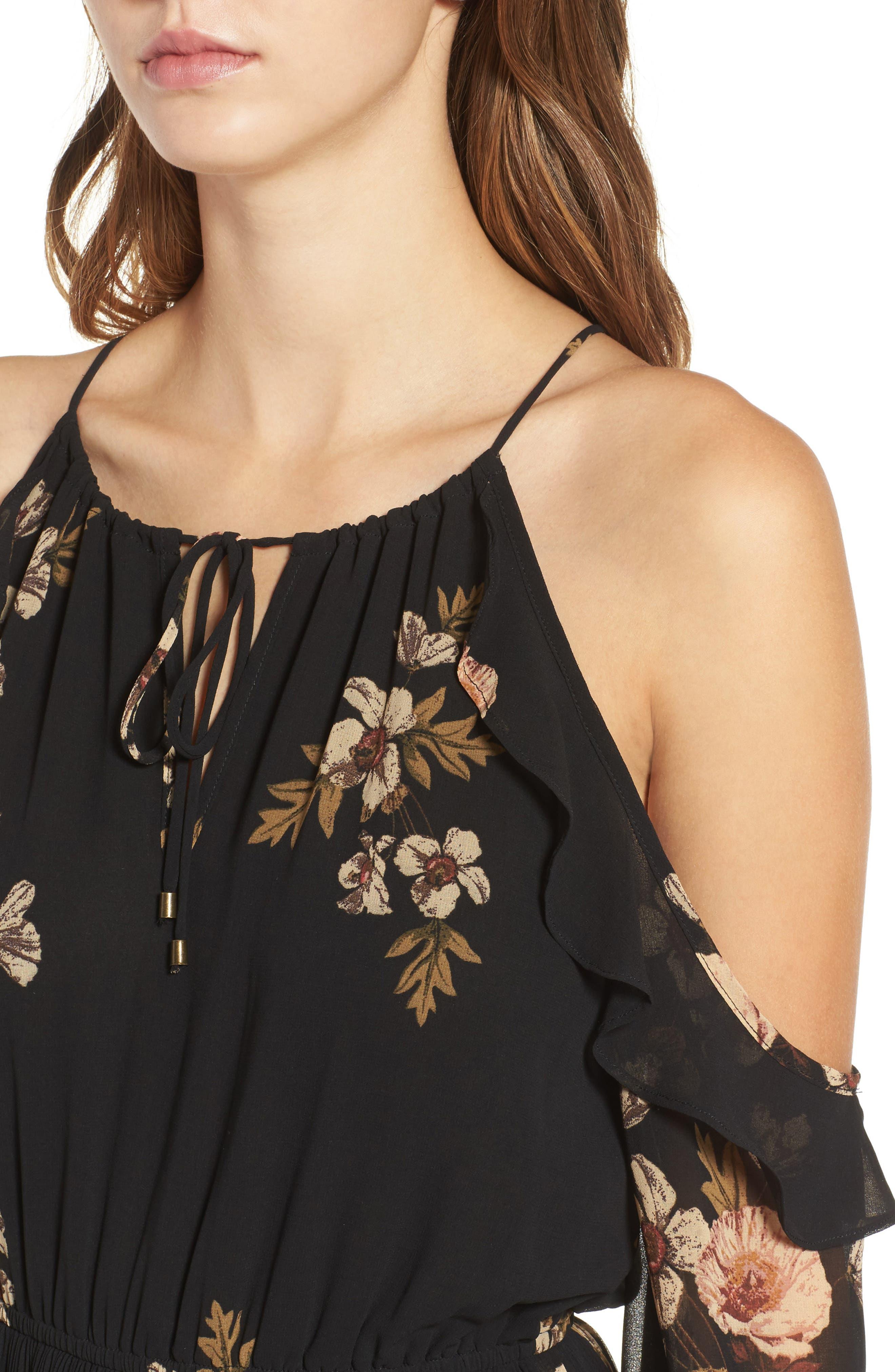 Alternate Image 6  - ASTR the Label Persephone Cold Shoulder Dress