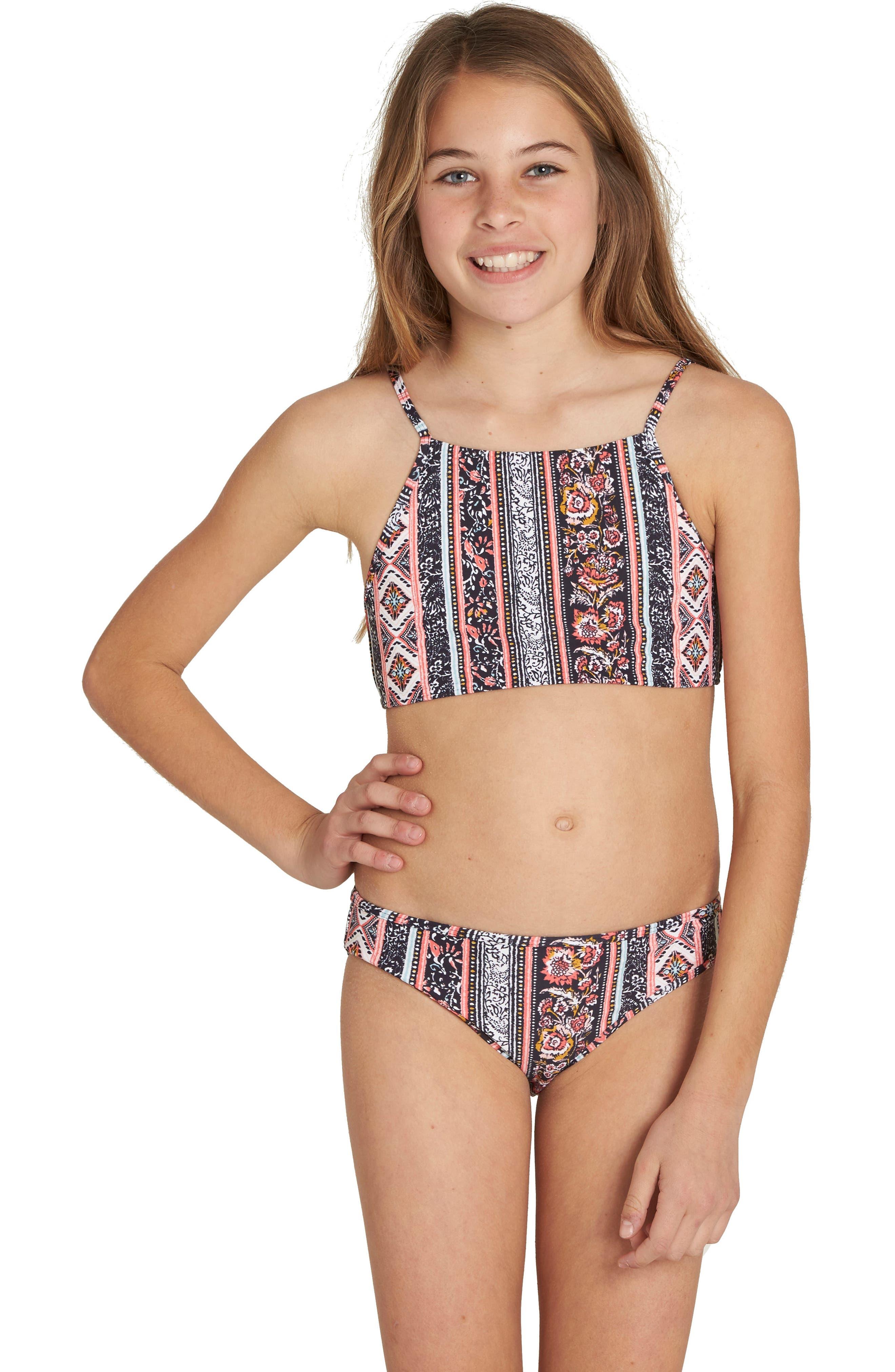 Alternate Image 1 Selected - Billabong Rosa Moon Two-Piece Swimsuit (Big Girls)