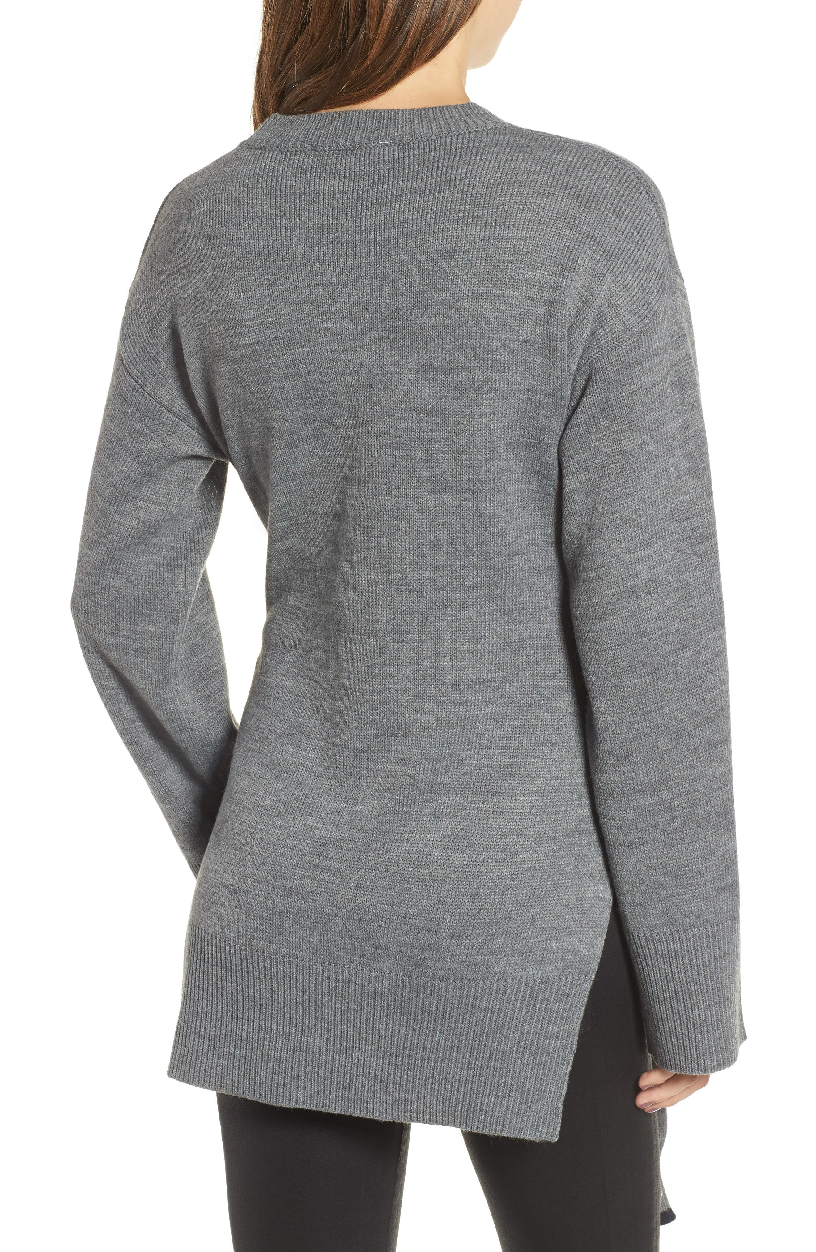 Alternate Image 2  - J.O.A. Tie Front Sweater