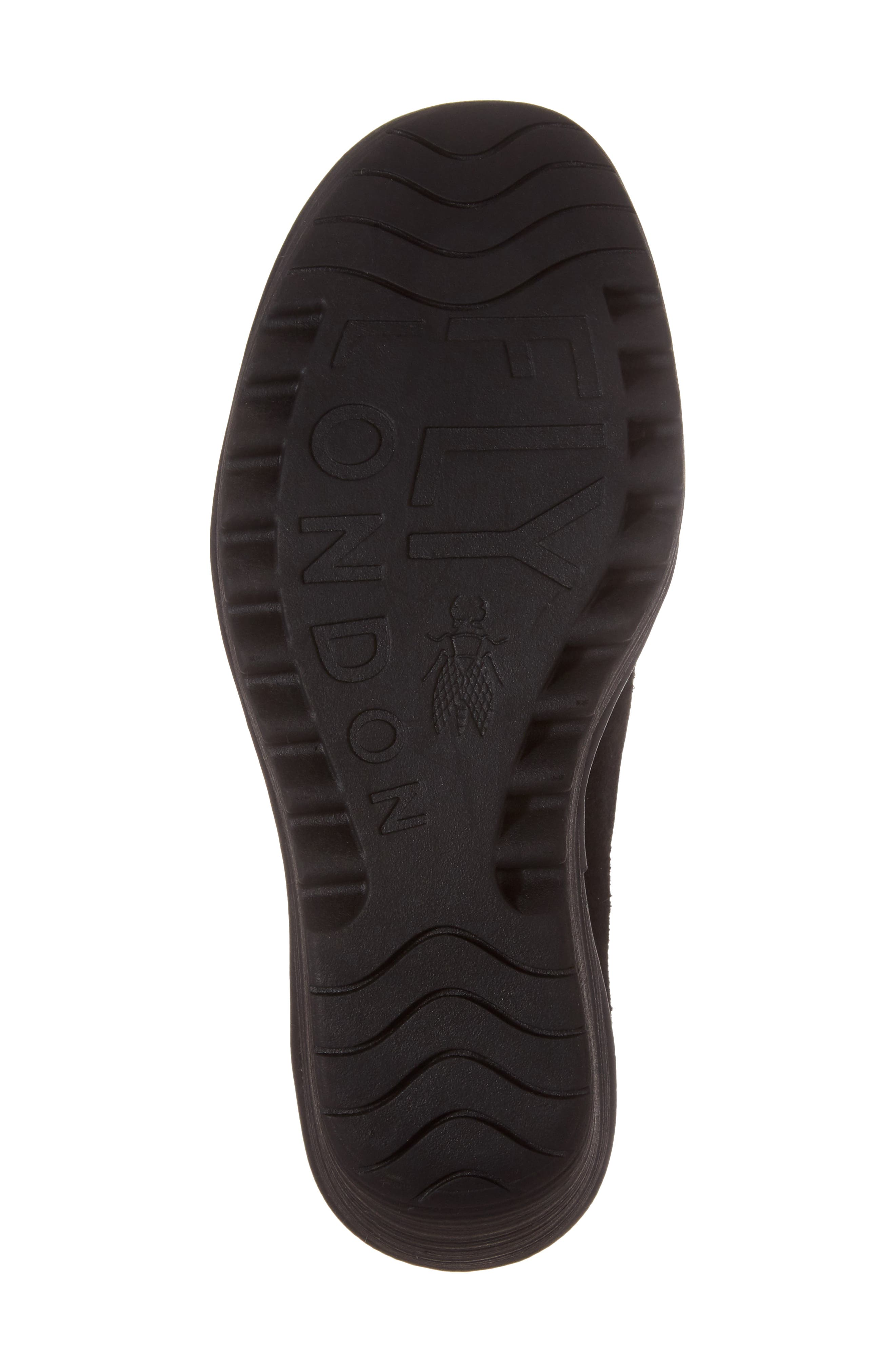 Yond Wedge,                             Alternate thumbnail 6, color,                             Black Suede
