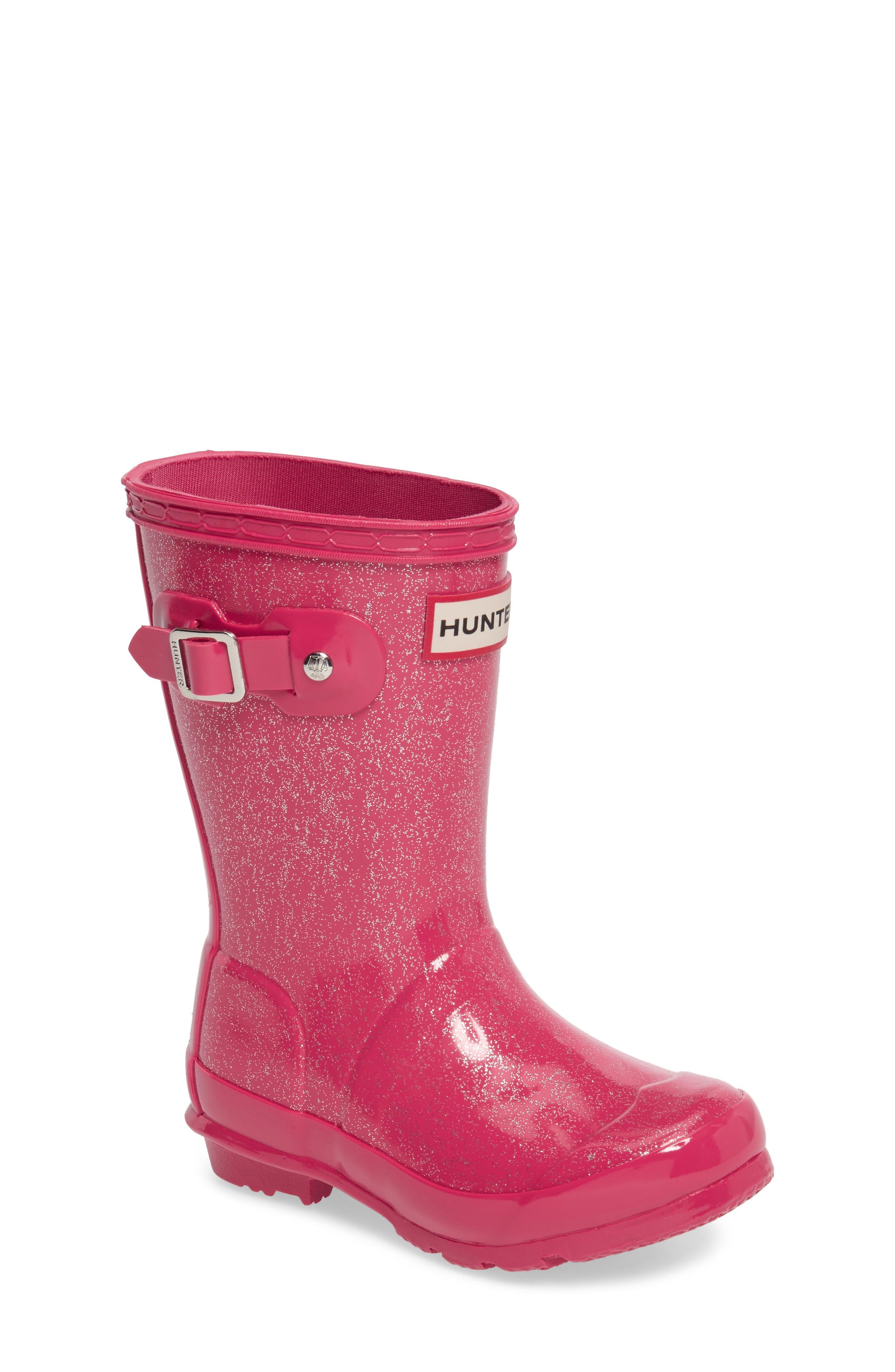 Hunter 'Original Glitter' Rain Boot (Toddler, Little Kid & Big Kid)