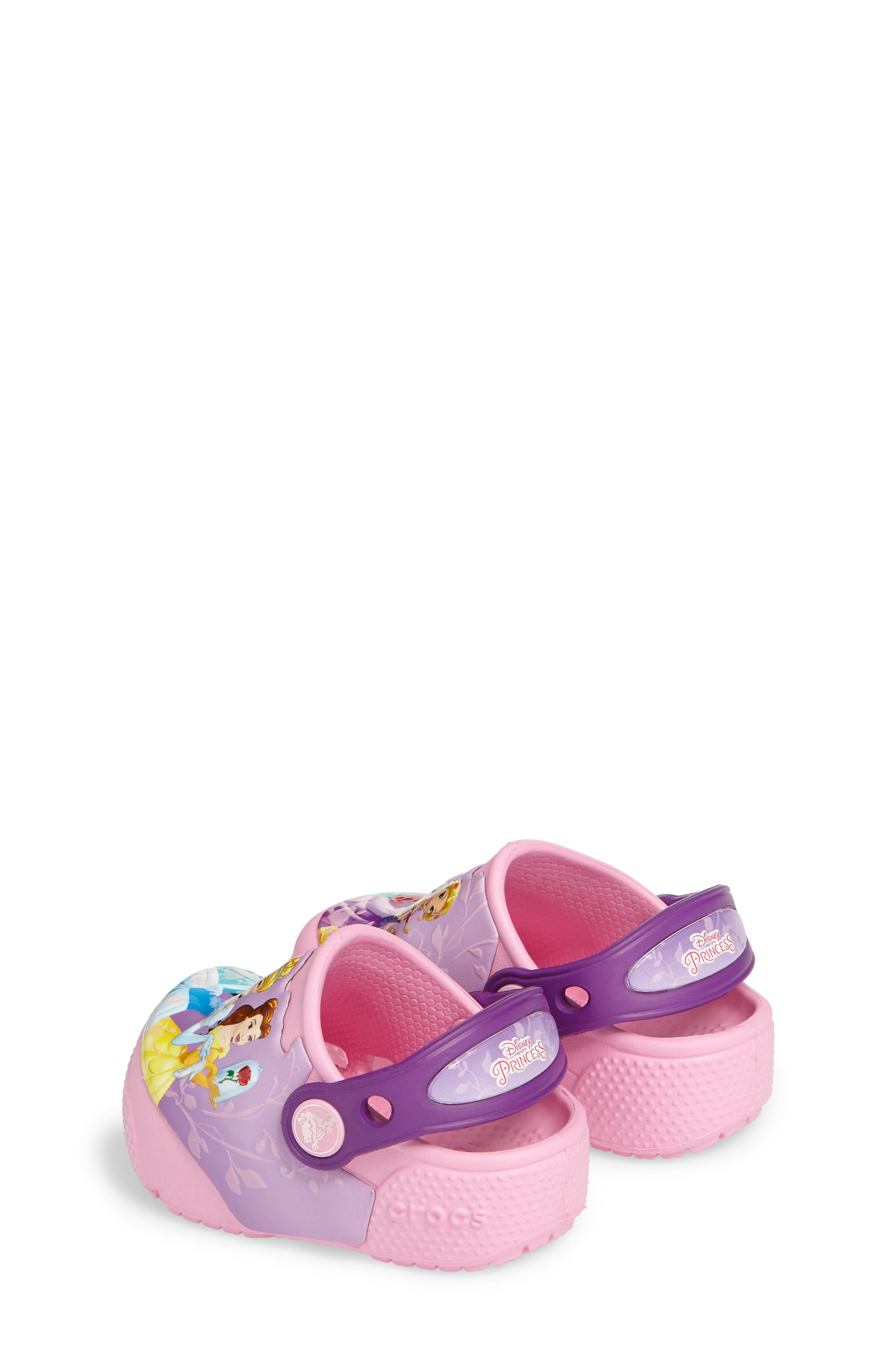 Fun ab Lights Disney<sup>®</sup> Princesses Light-Up Slip-On,                             Alternate thumbnail 2, color,                             Amethyst