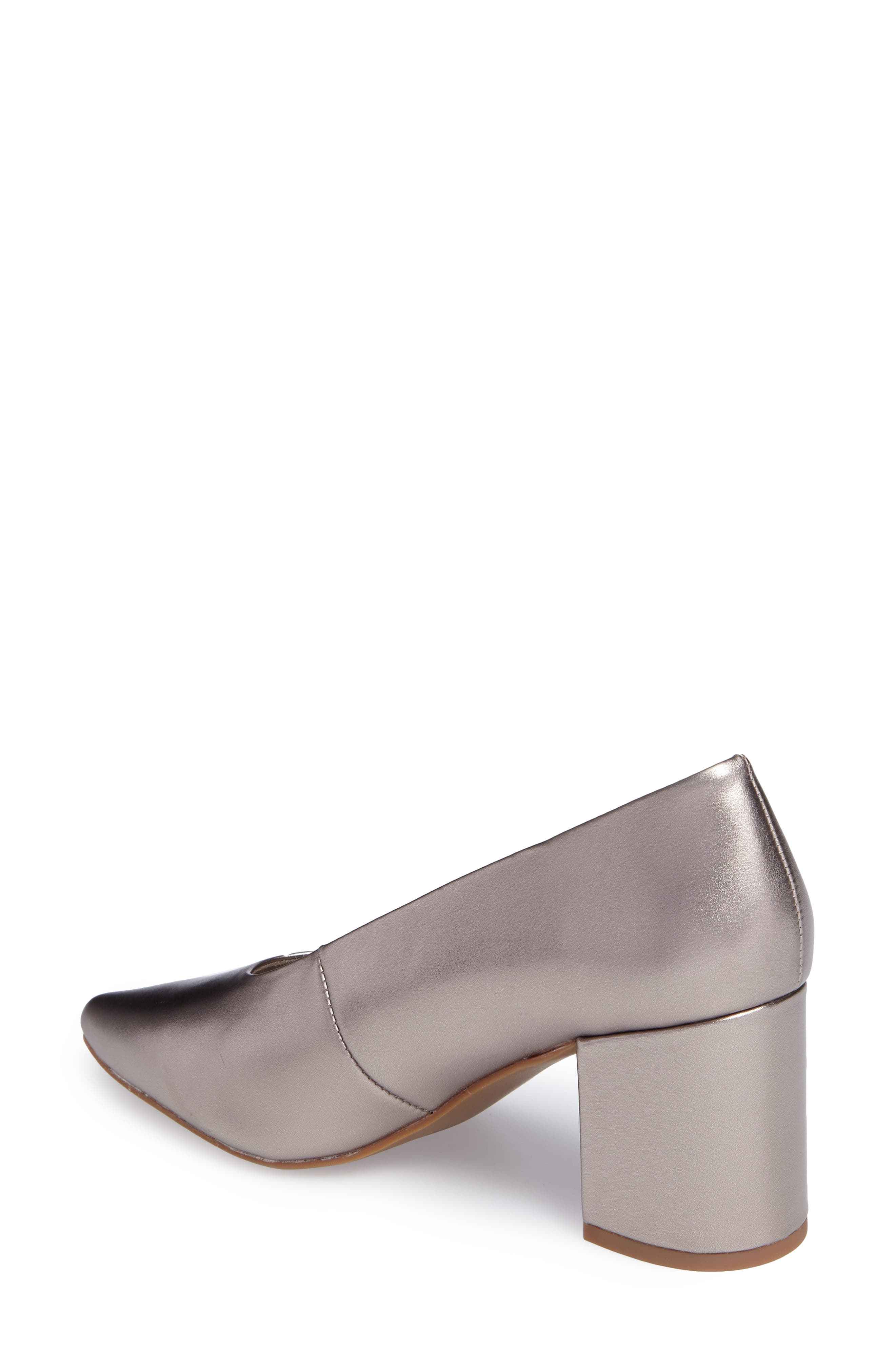 Rehearse Pointy Toe Pump,                             Alternate thumbnail 2, color,                             Pewter Leather