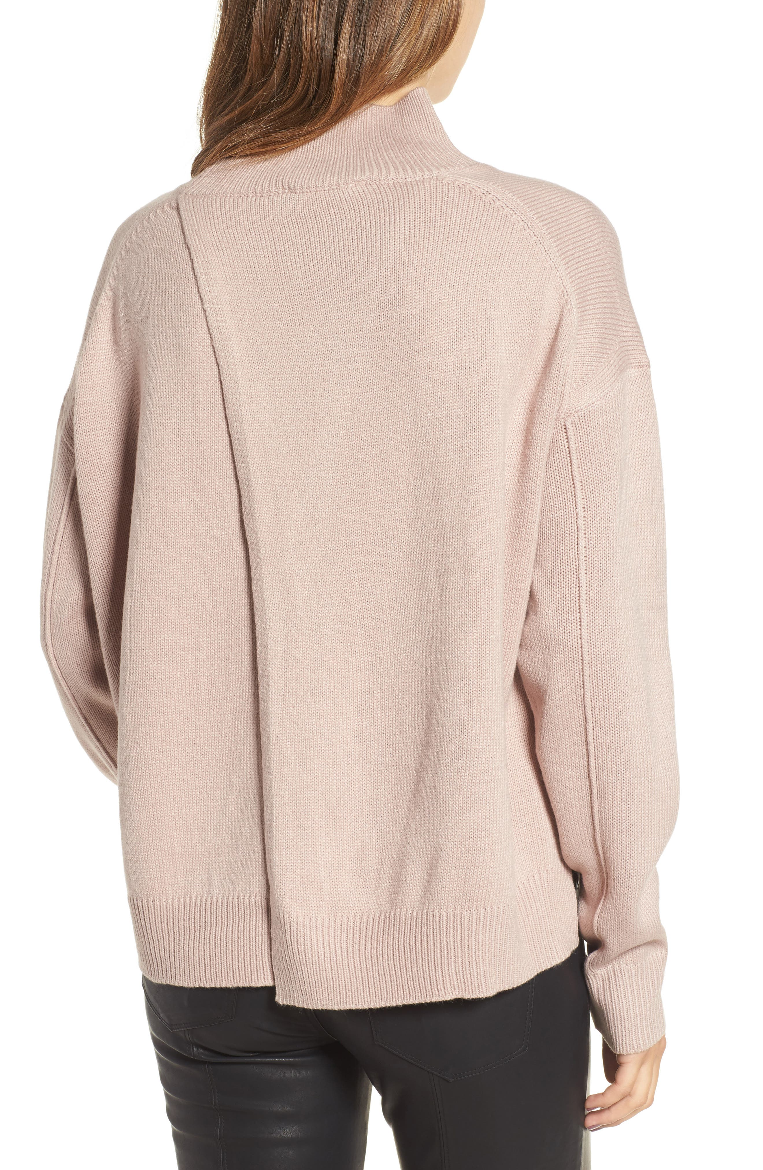 Oversize Sweater,                             Alternate thumbnail 2, color,                             Pink