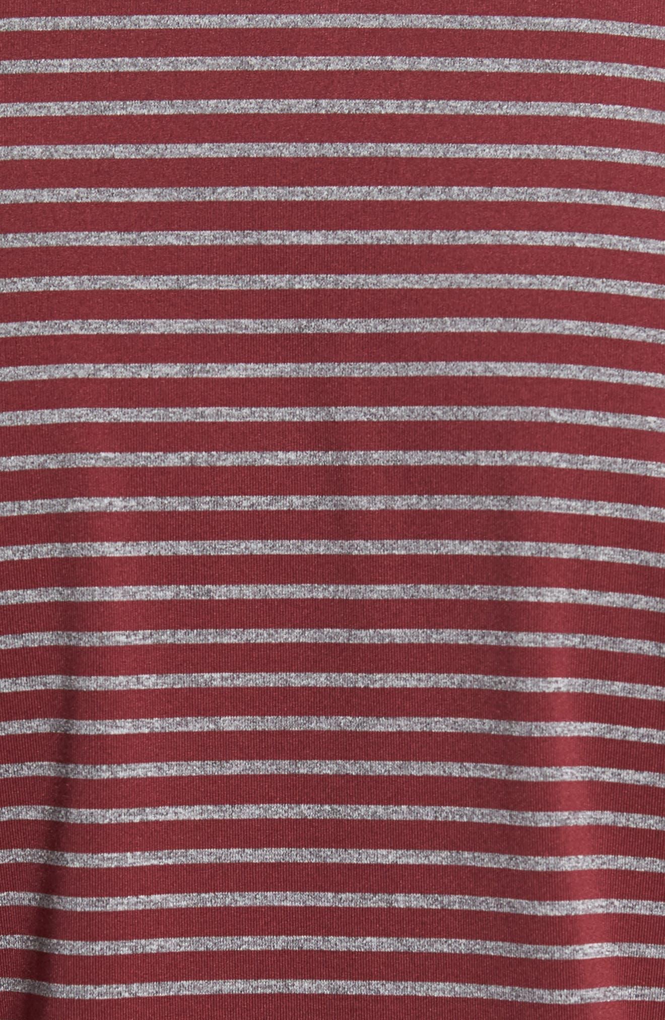 Control Stripe Jersey Polo,                             Alternate thumbnail 5, color,                             Oxblood