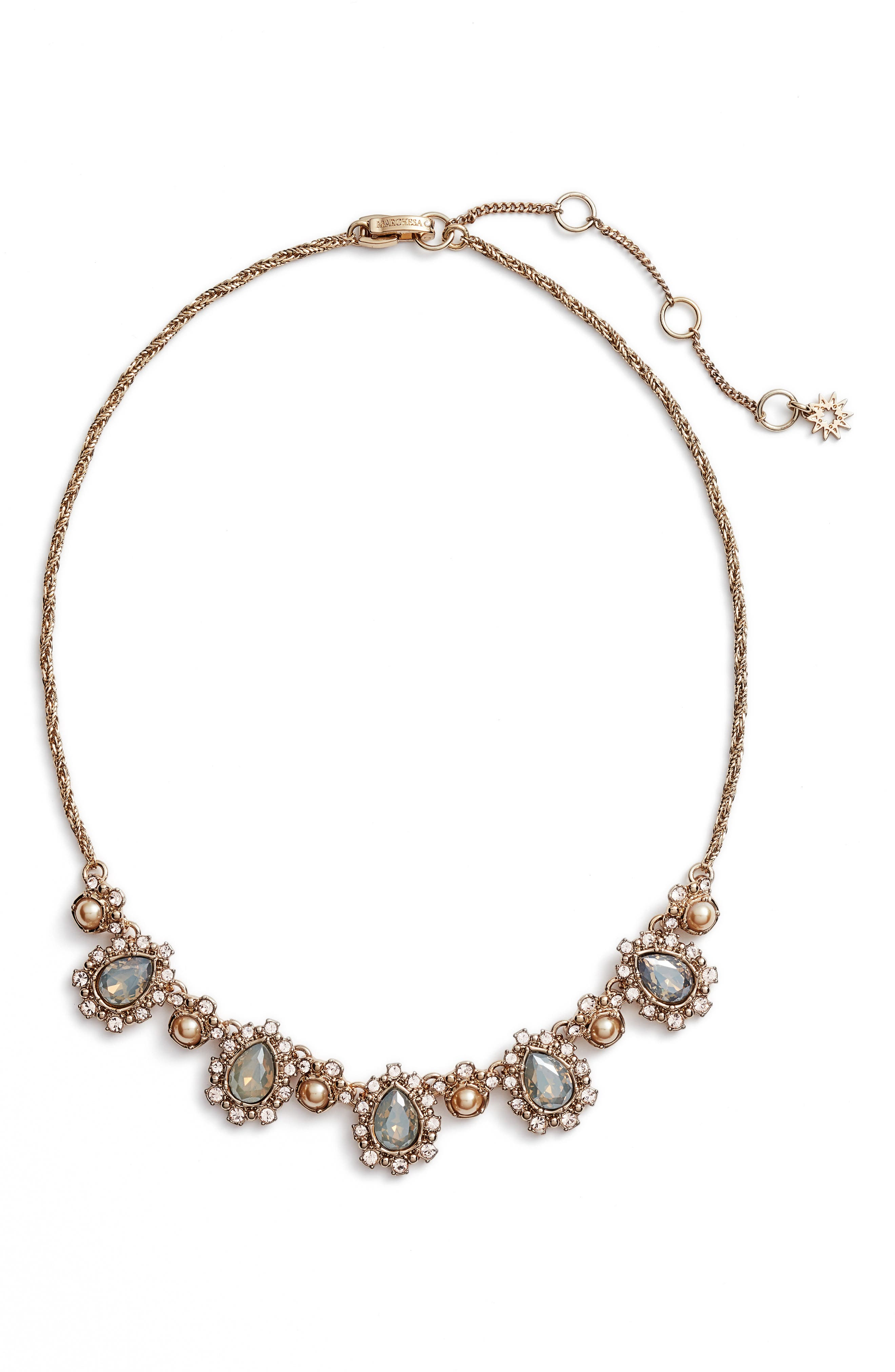 Main Image - Marchesa Crystal Collar Necklace