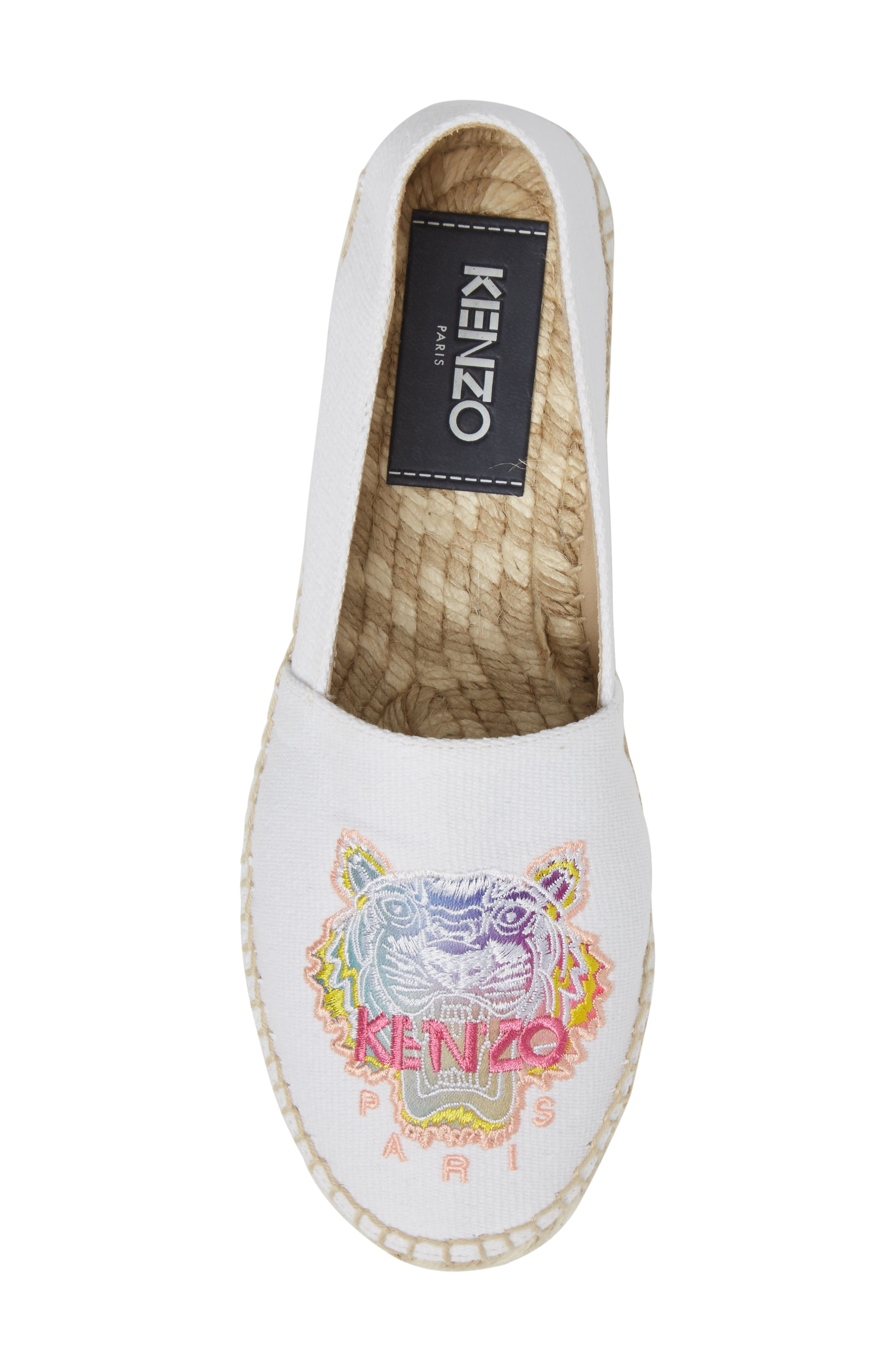 Alternate Image 5  - KENZO Rainbow Tiger Embroidered Espadrille (Women)