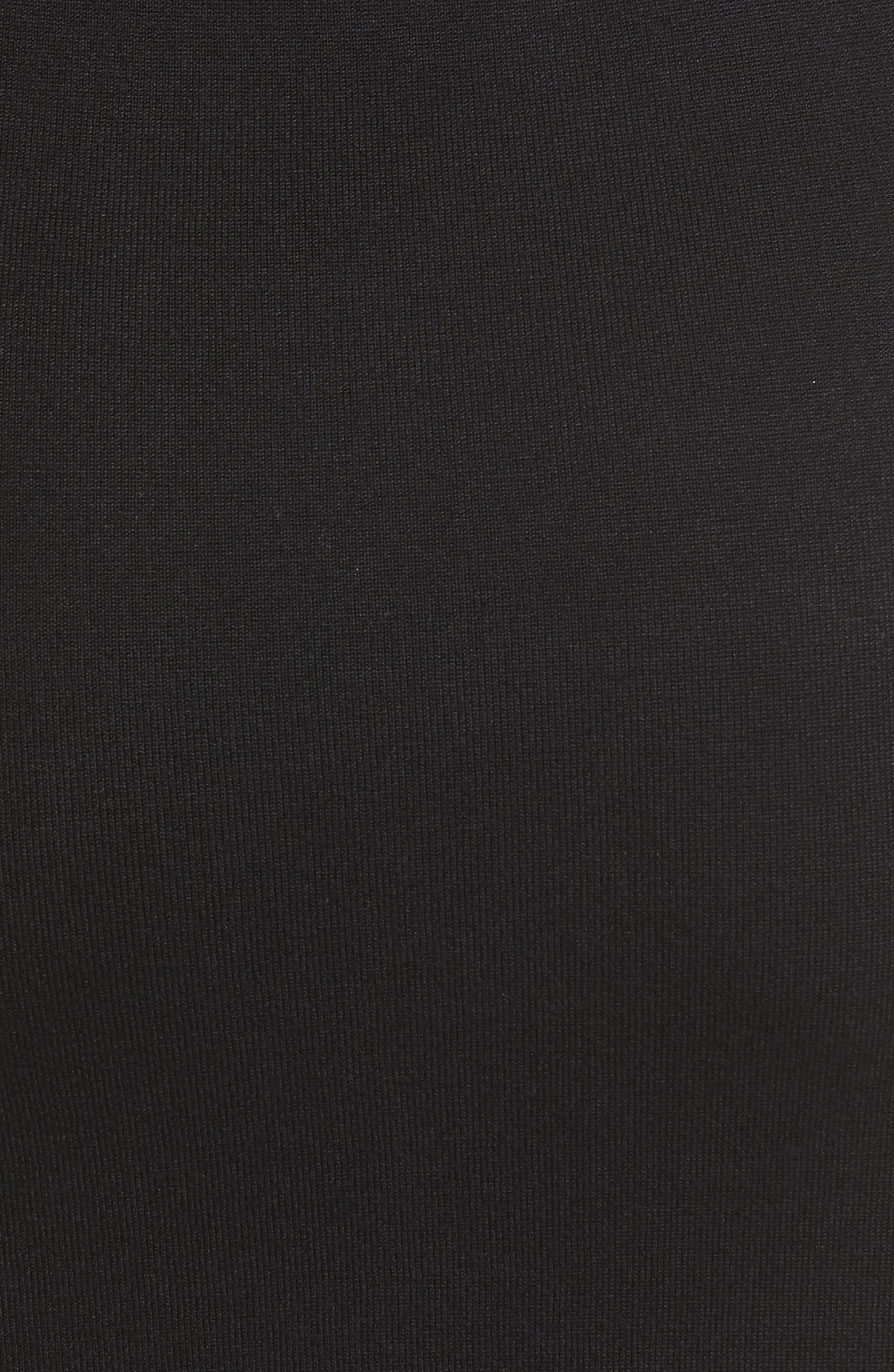 Elbow Sleeve Sweater Dress,                             Alternate thumbnail 5, color,                             Black