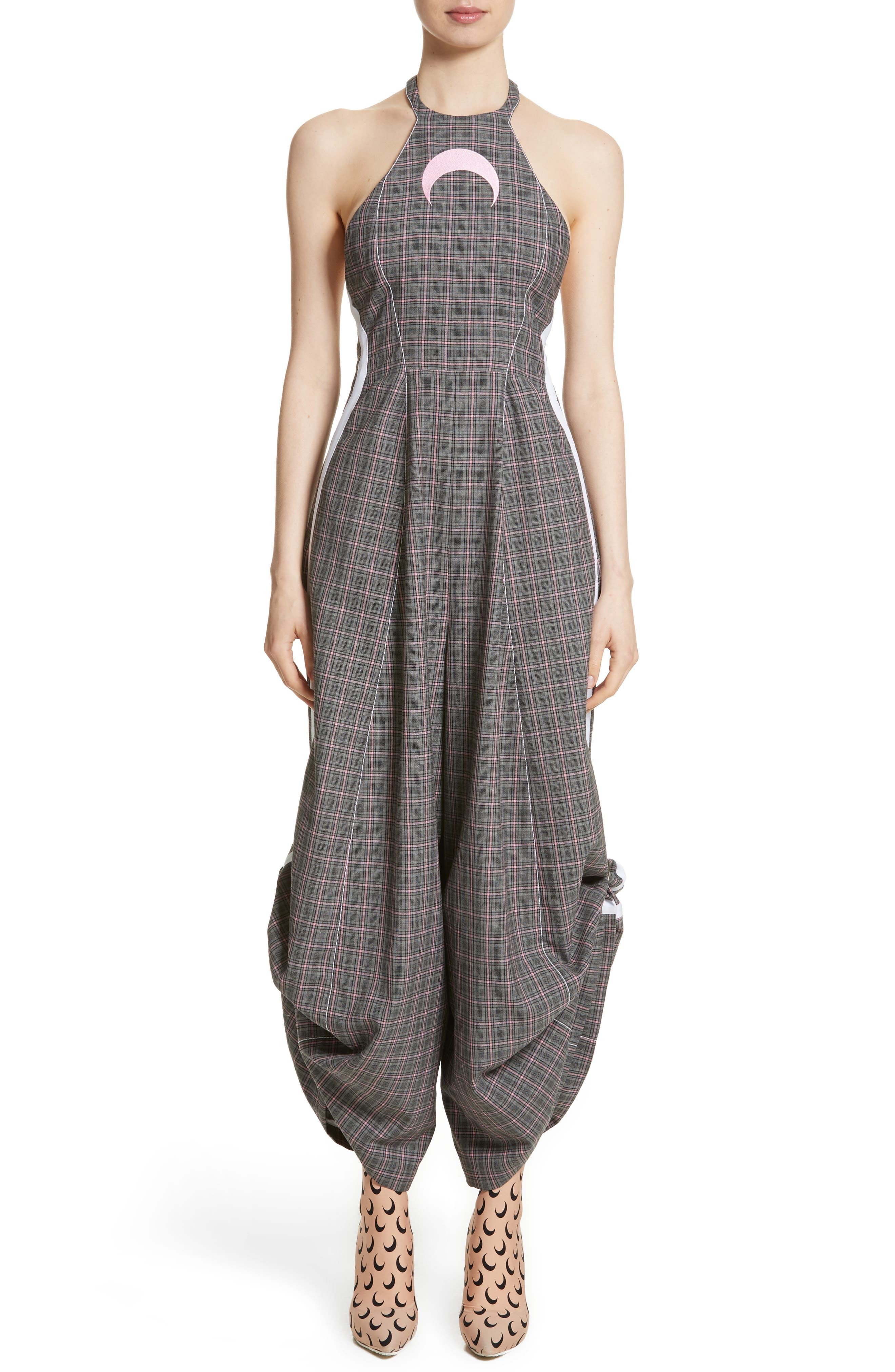 Wool Jumpsuit,                             Main thumbnail 1, color,                             Grey Pink