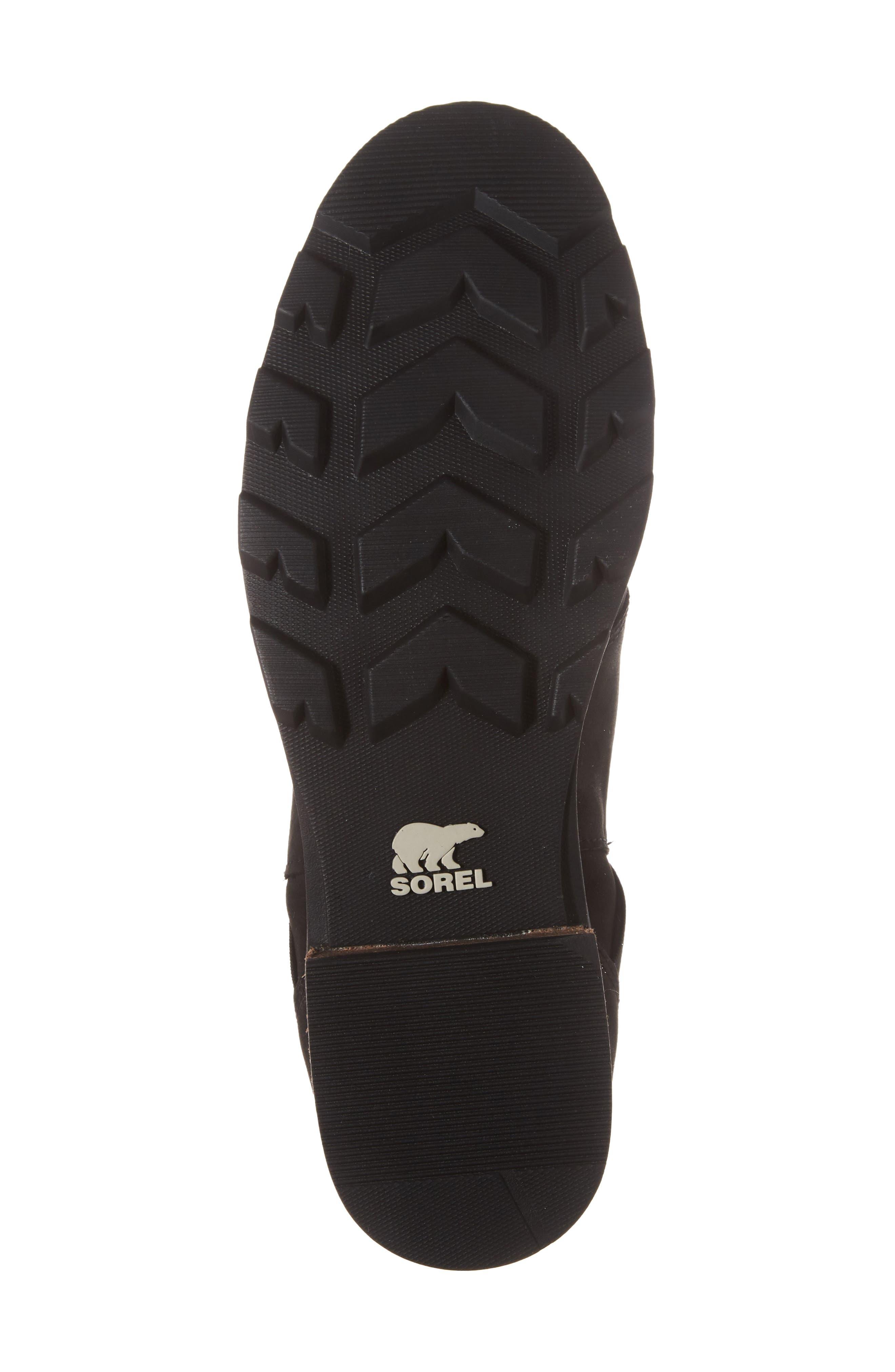 Emelie Waterproof Chelsea Boot,                             Alternate thumbnail 6, color,                             Black/ Black