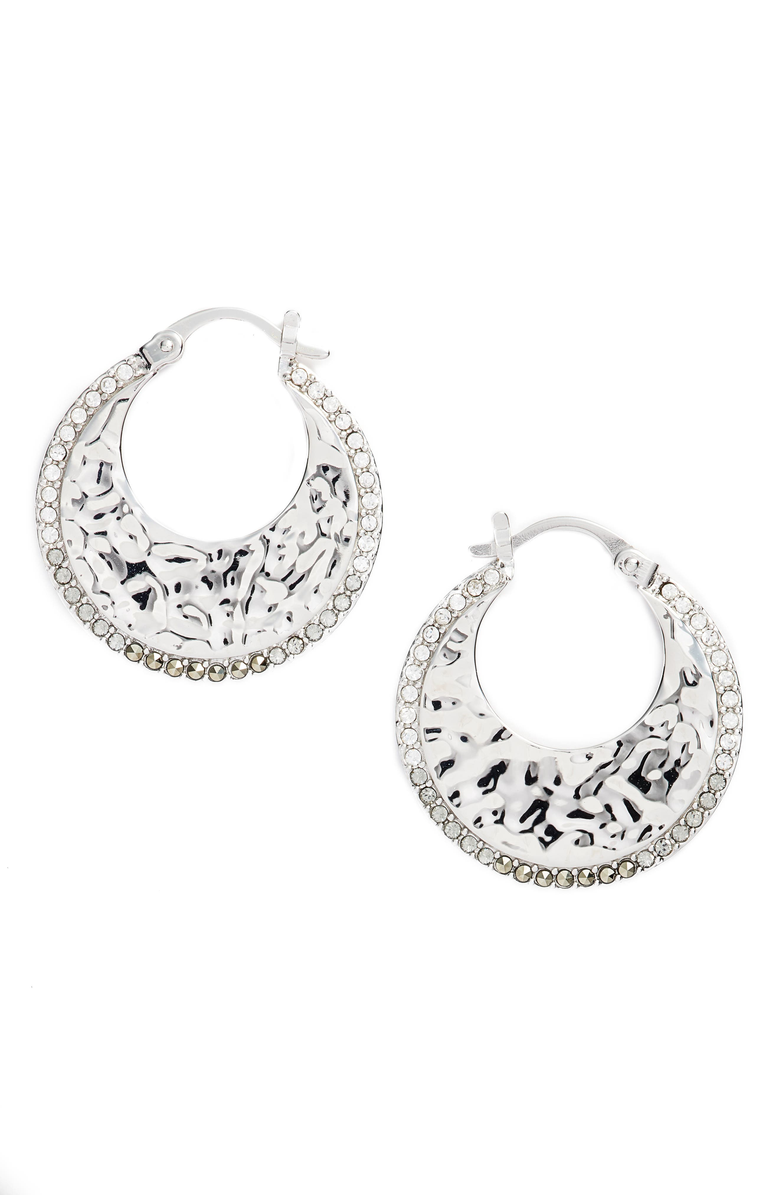 Judith Jack Small Hoop Earrings