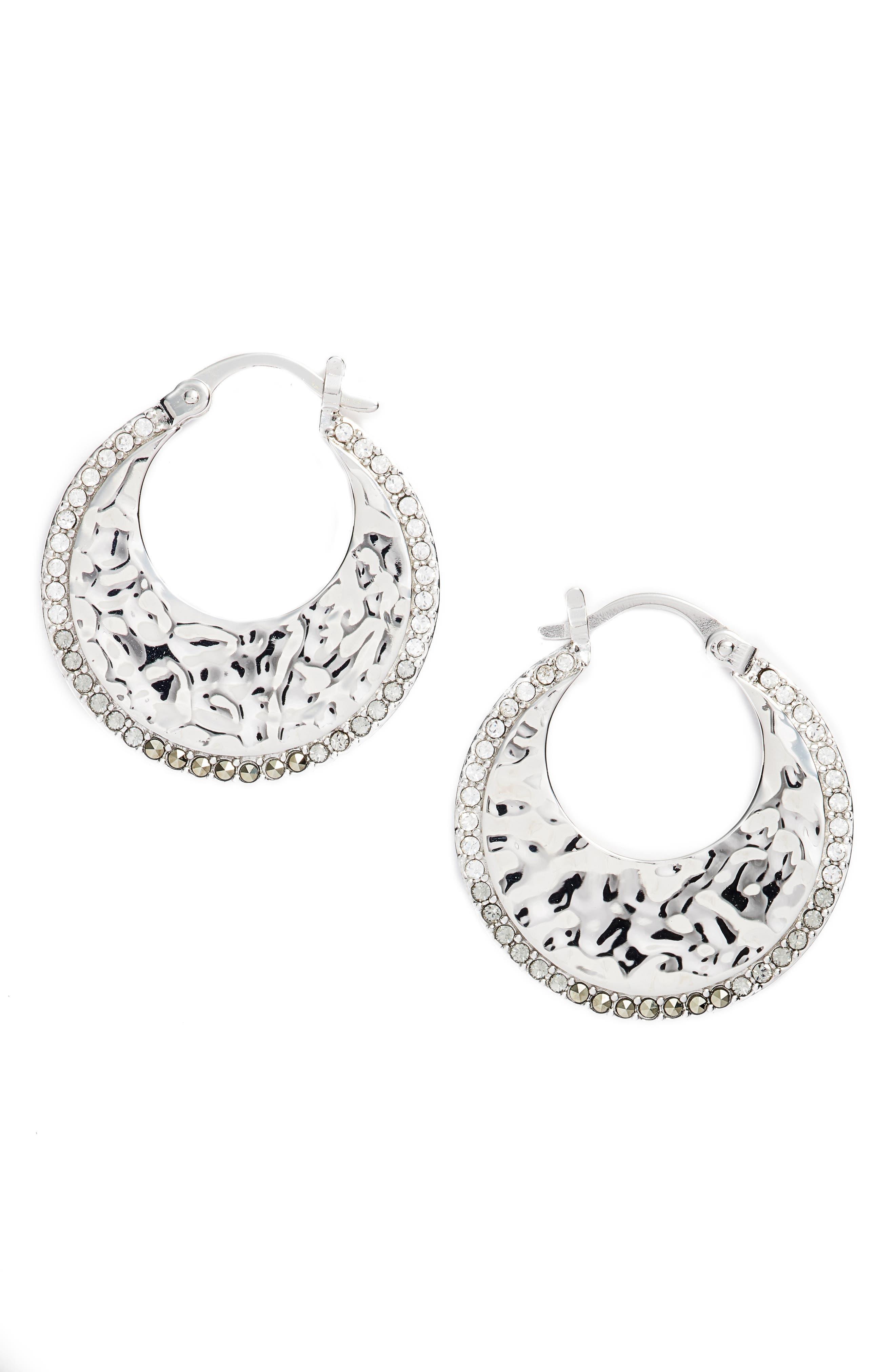 Judith Jack Small Hoop Earrings