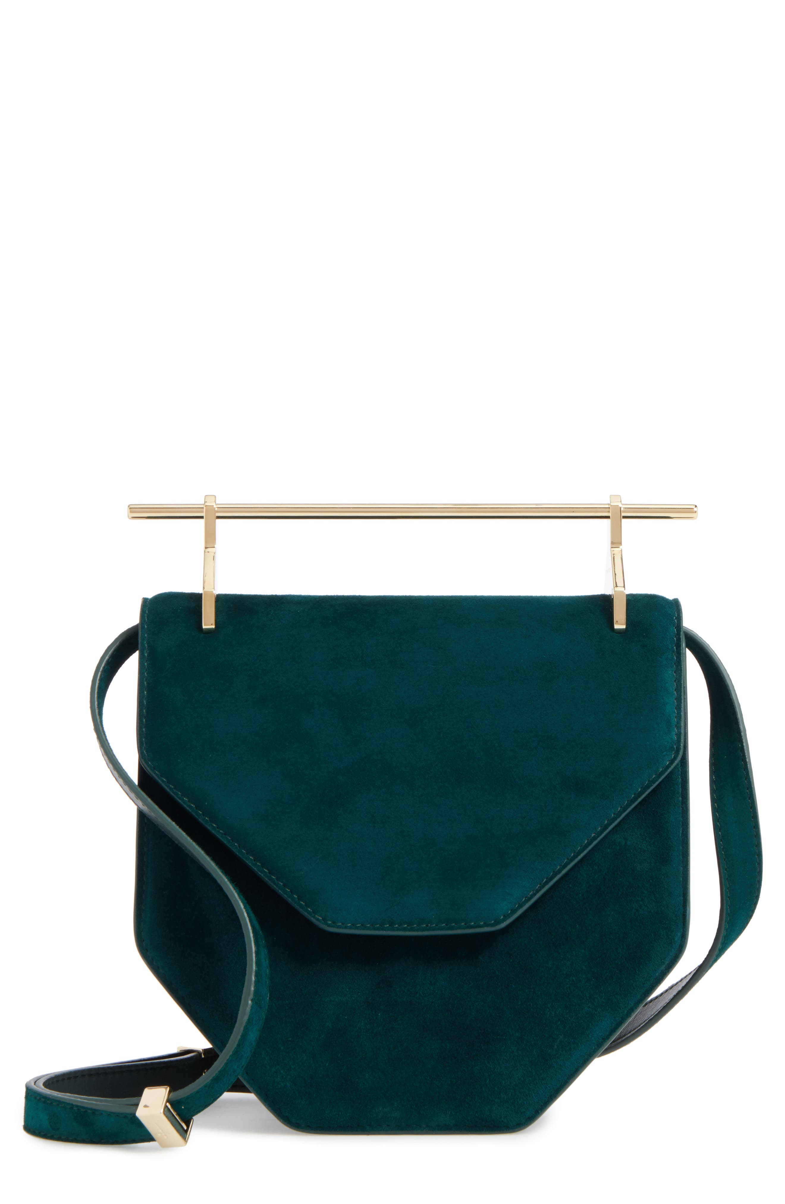 M2Malletier Amor Fati Suede Shoulder Bag