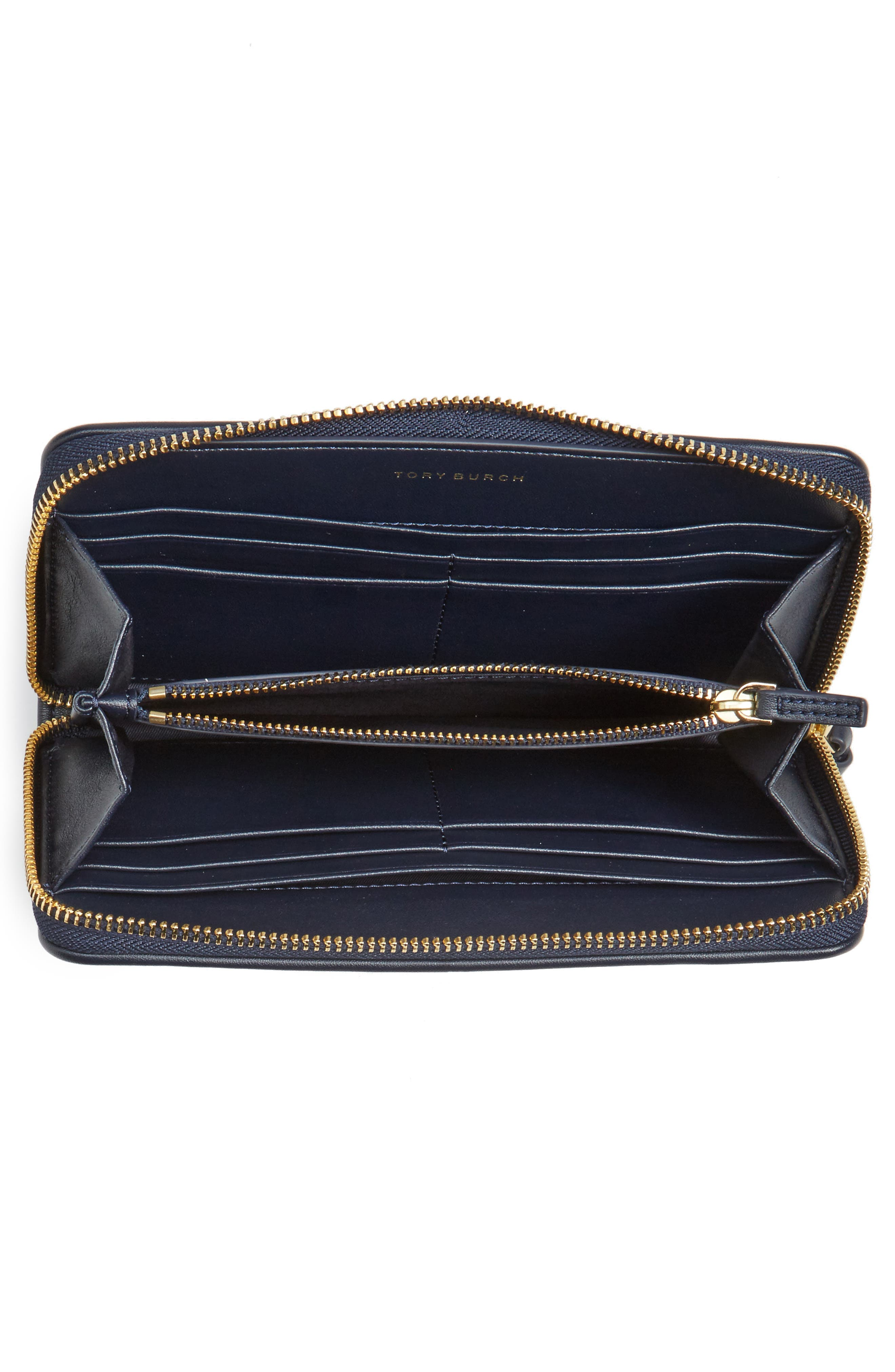 Alternate Image 3  - Tory Burch Gemini Link Coated Canvas Continental Wallet