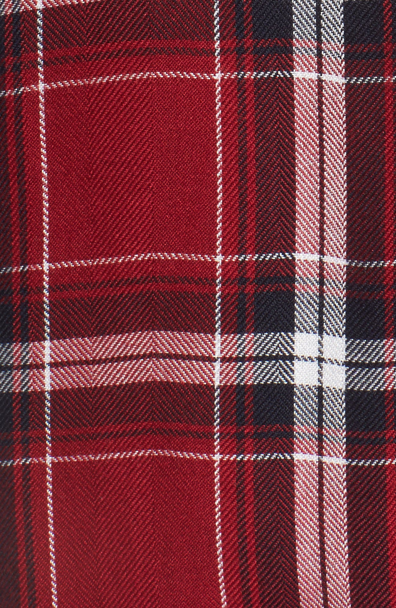 Hunter Plaid Shirt,                             Alternate thumbnail 6, color,                             Cranberry Ink