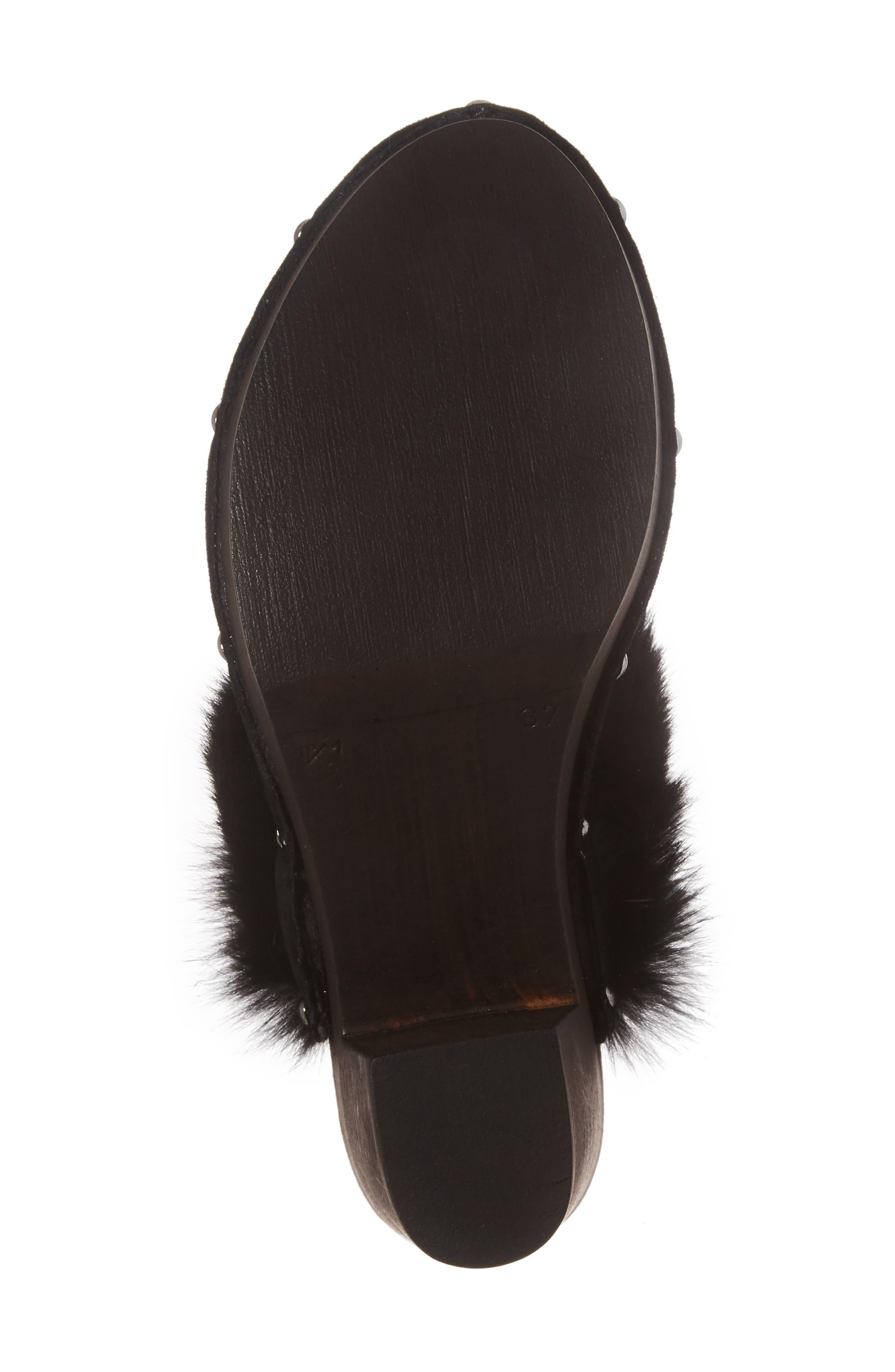 Alternate Image 6  - Donald J Pliner Willo Genuine Rabbit Fur Mule (Women)