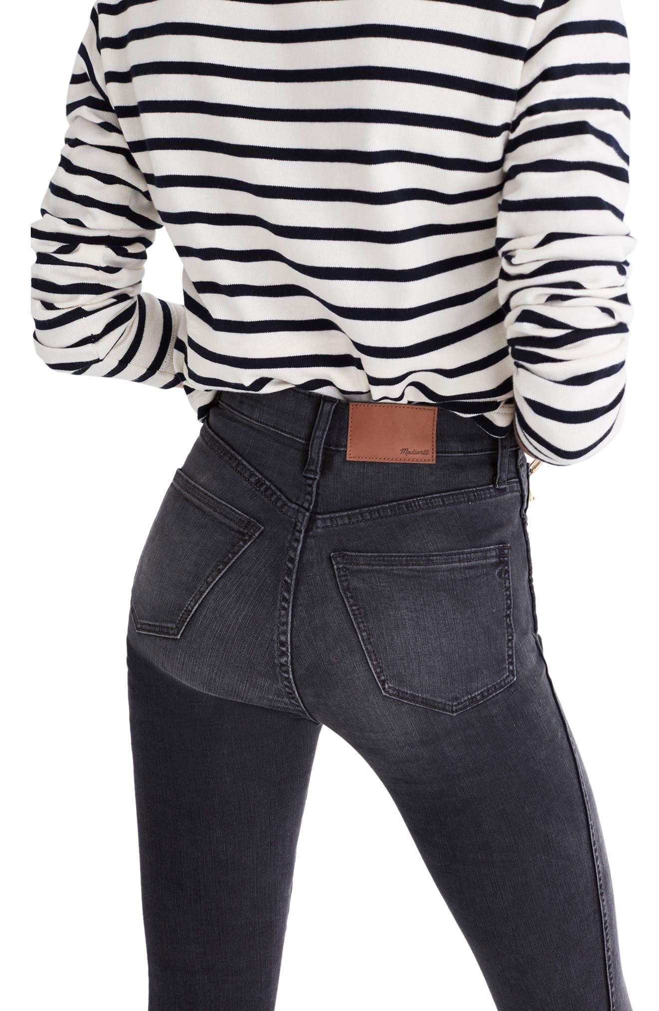 Alternate Image 2  - Madewell 10-Inch High Rise Step Hem Skinny Jeans (Slater Wash)