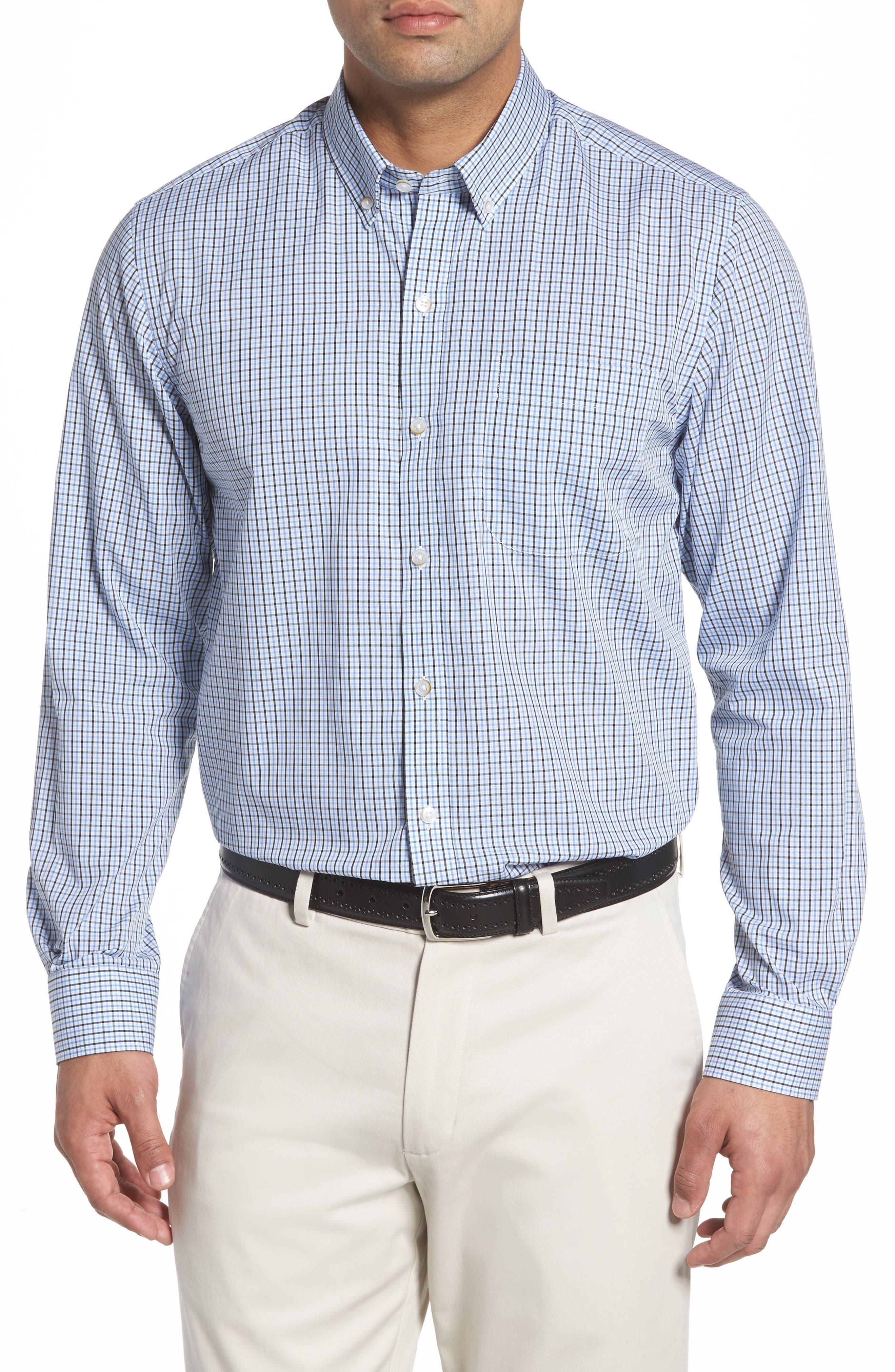 Easton Check Non-Iron Sport Shirt,                         Main,                         color, Wisteria