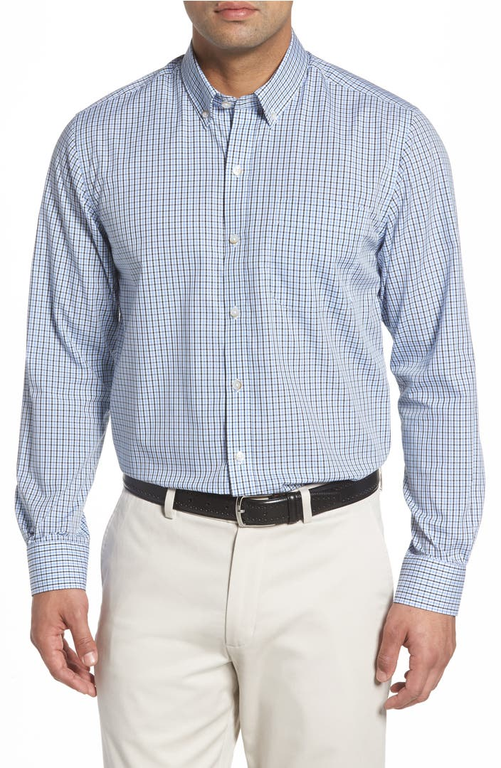 Cutter buck easton check non iron sport shirt nordstrom for What is a non iron shirt