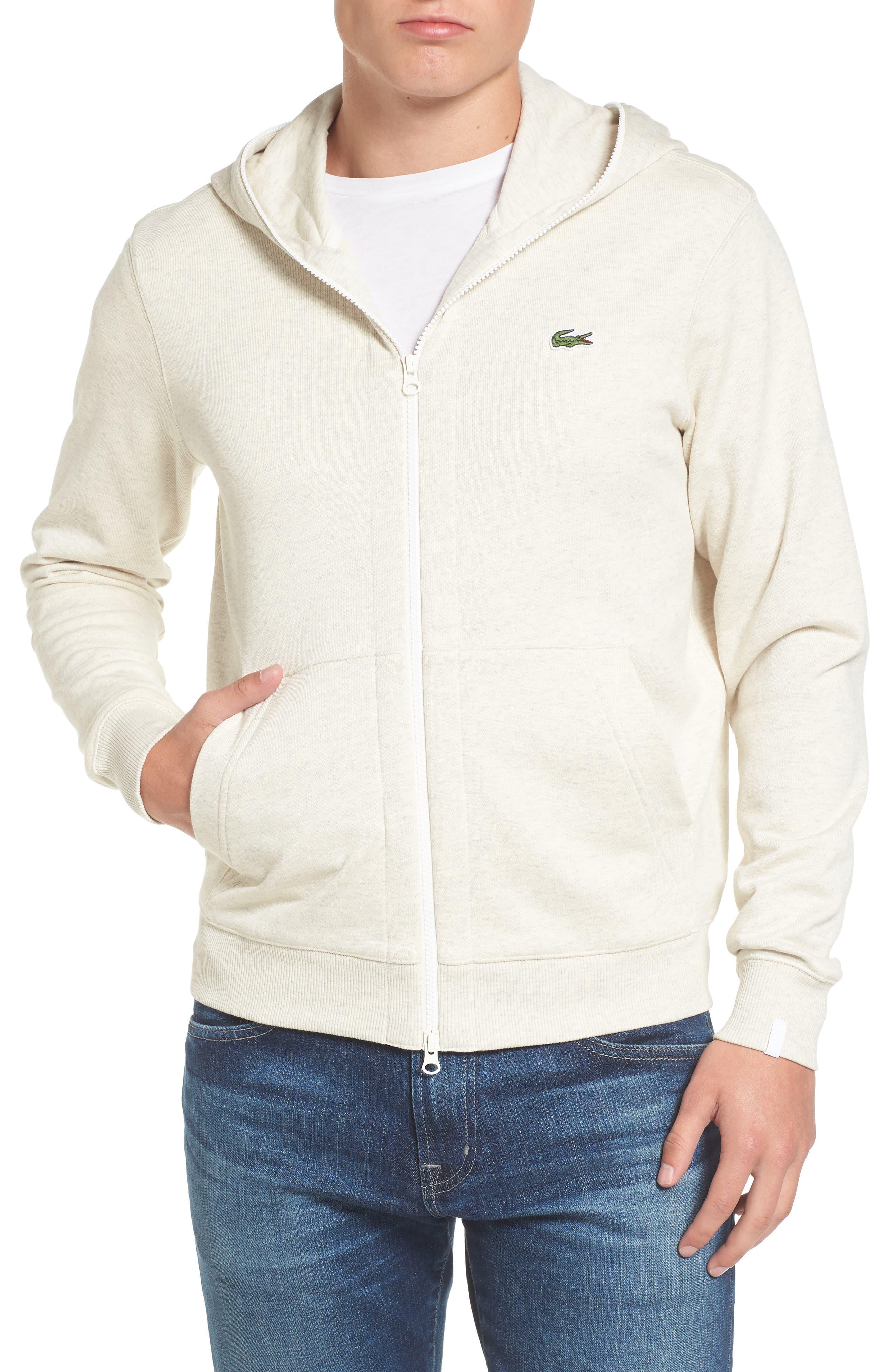 Fleece Zip Sweatshirt,                         Main,                         color, Pigeon