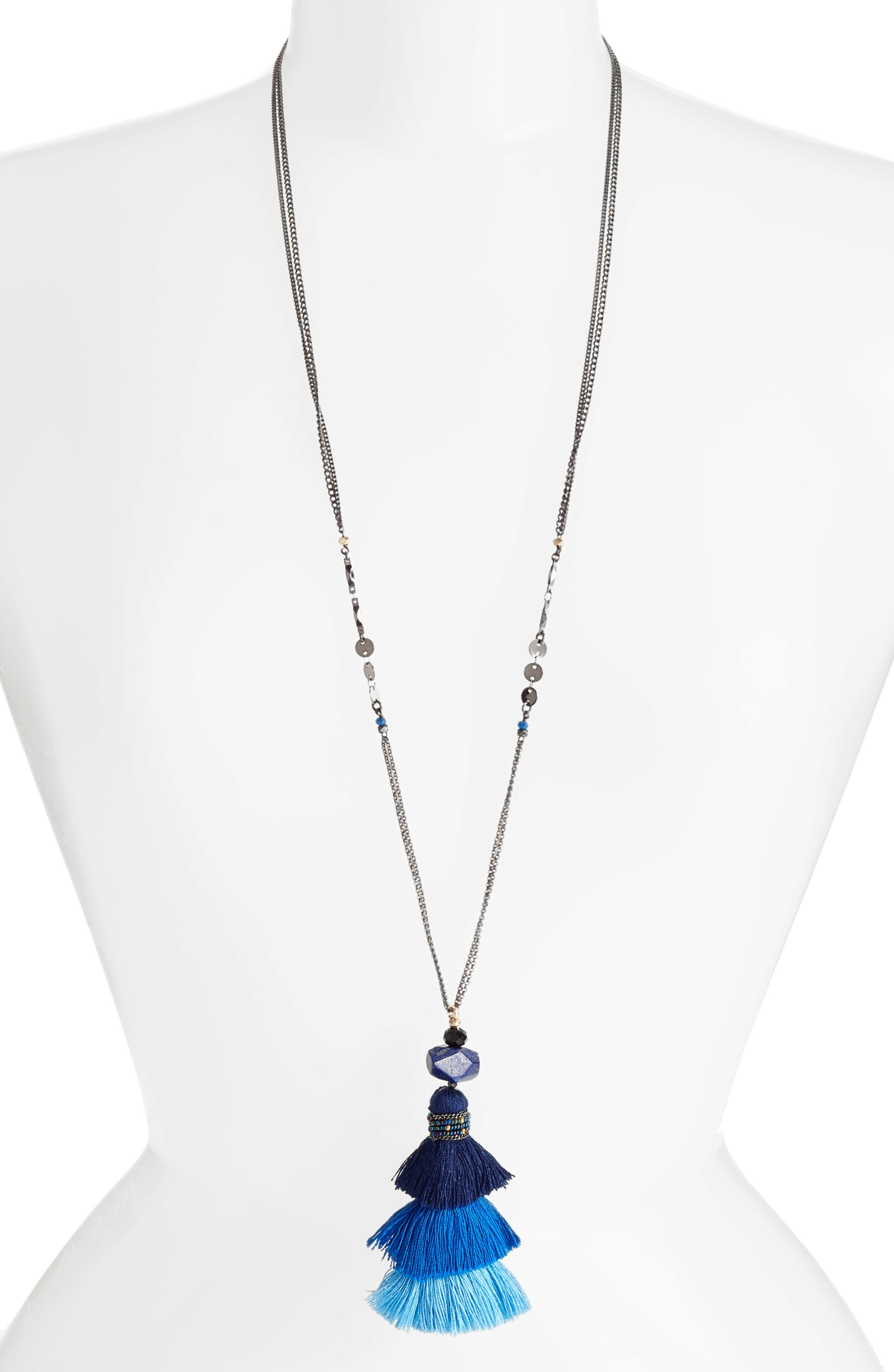 Nakamol Design Layered Tassel Necklace